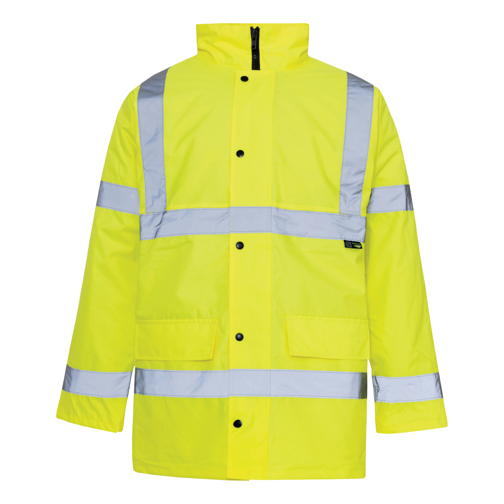 High Visibility Standard Parka with 2-Way Zip Fastening Small Yellow *Approx 3 Day Leadtime*