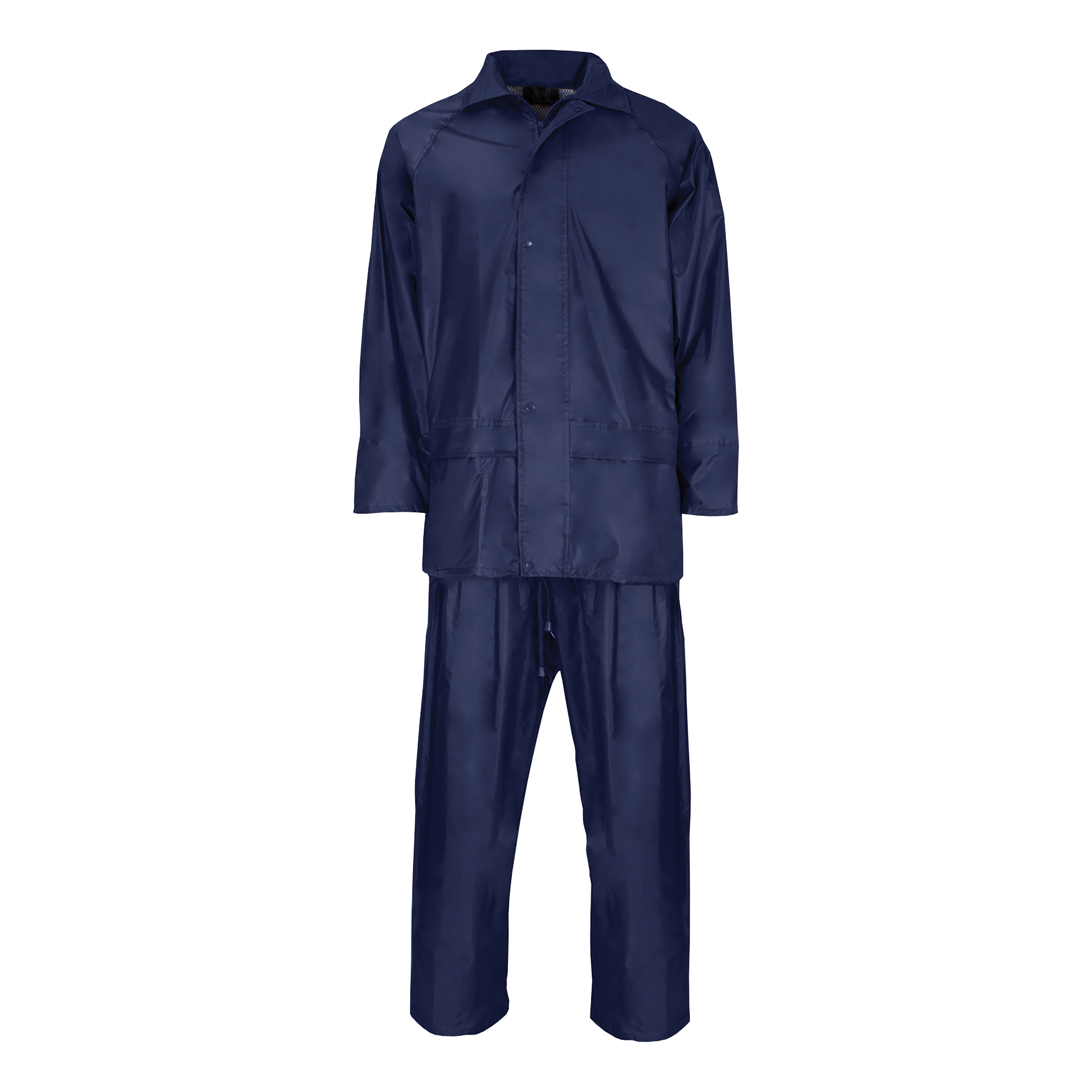 Rainsuit Polyester/PVC with Elasticated Waisted Trousers Large Navy *Approx 3 Day Leadtime*
