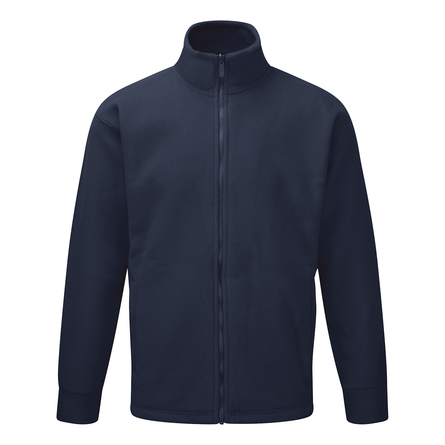 Classic Fleece Jacket Elasticated Cuffs Full Zip Front Medium Navy Blue Ref FLJNS *1-3 Days Lead Time*