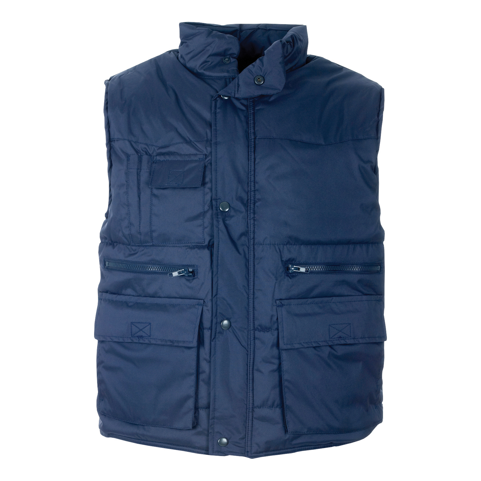 Bodywarmers Body Warmer Polyester with Padding & Multi Pockets Large Navy Ref HBNL *Approx 3 Day Leadtime*