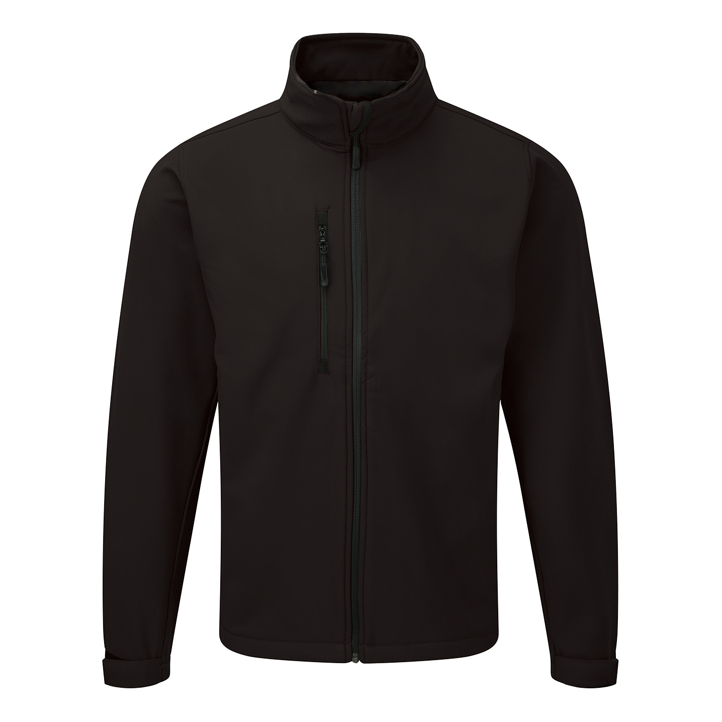 Jacket Soft Shell Water Resistant Breathable 320gsm Medium Black