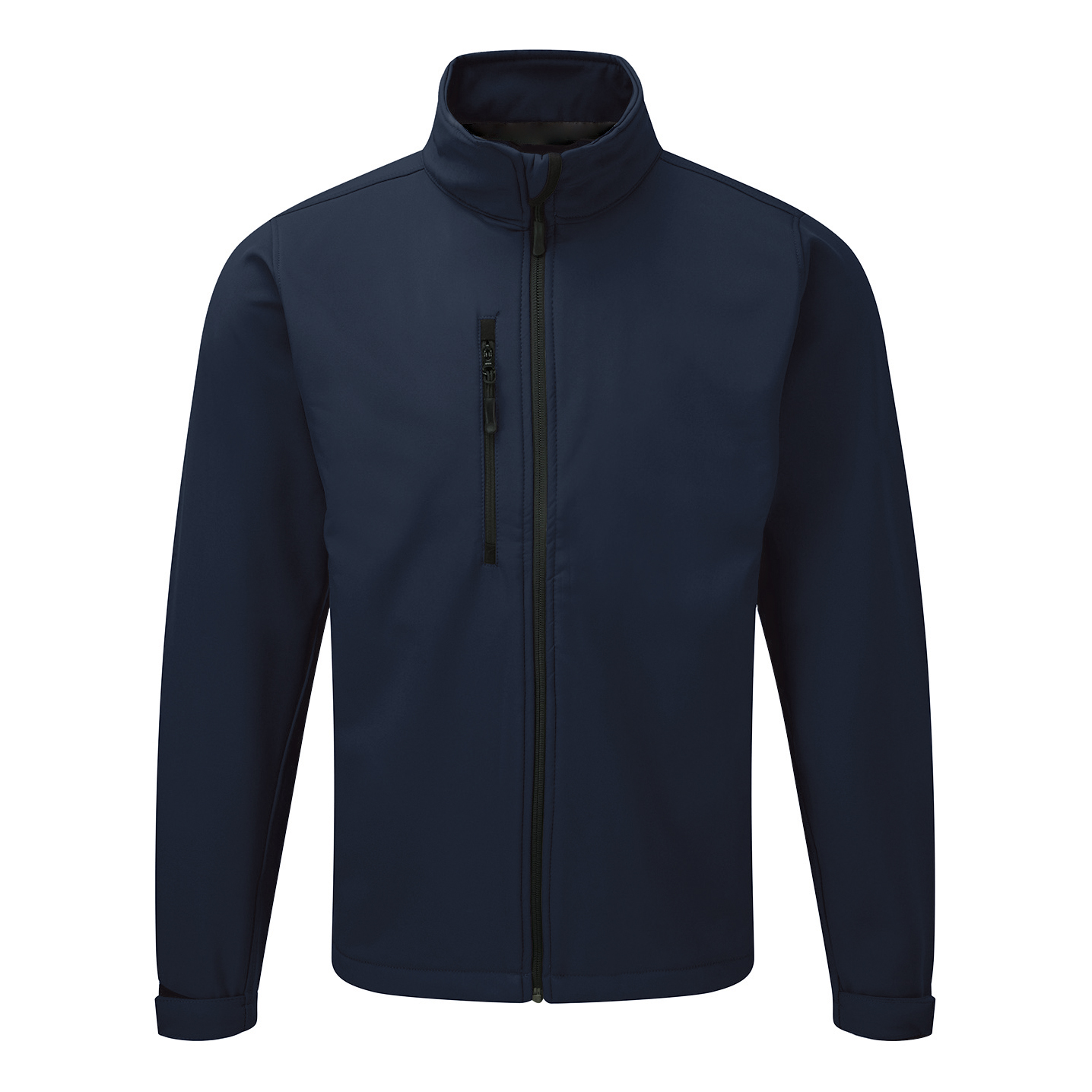Jacket Soft Shell Water Resistant Breathable 320gsm Small Navy Blue