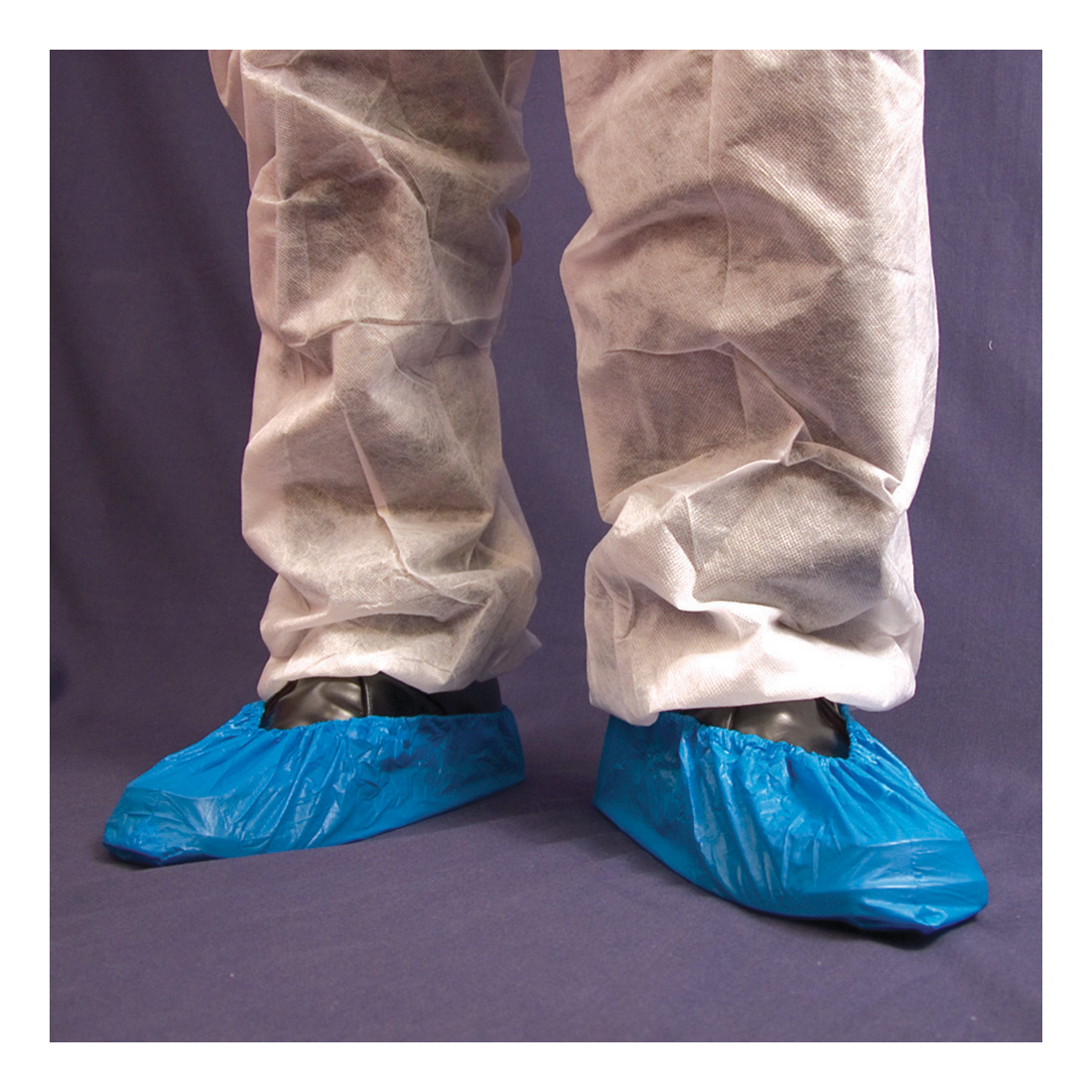 Mens overshoes Disposable Overshoe Waterproof Elasticated 14In Blue Pack 2000