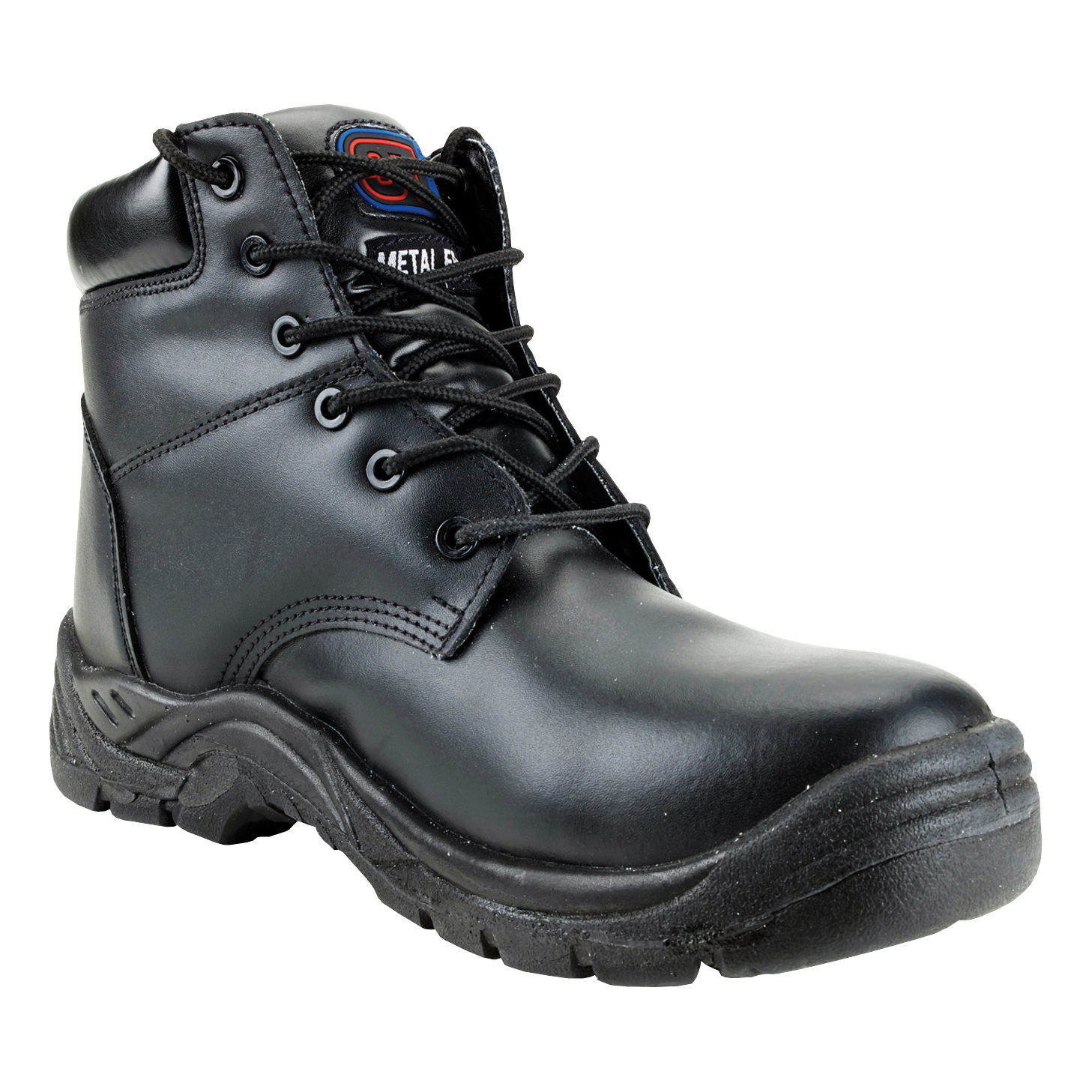 ST Toe Lite Boot Leather Comp' Midsole Safety Toecap Metal Free sze 9 Blk Ref 90174 *Approx 3 Day L/Time*