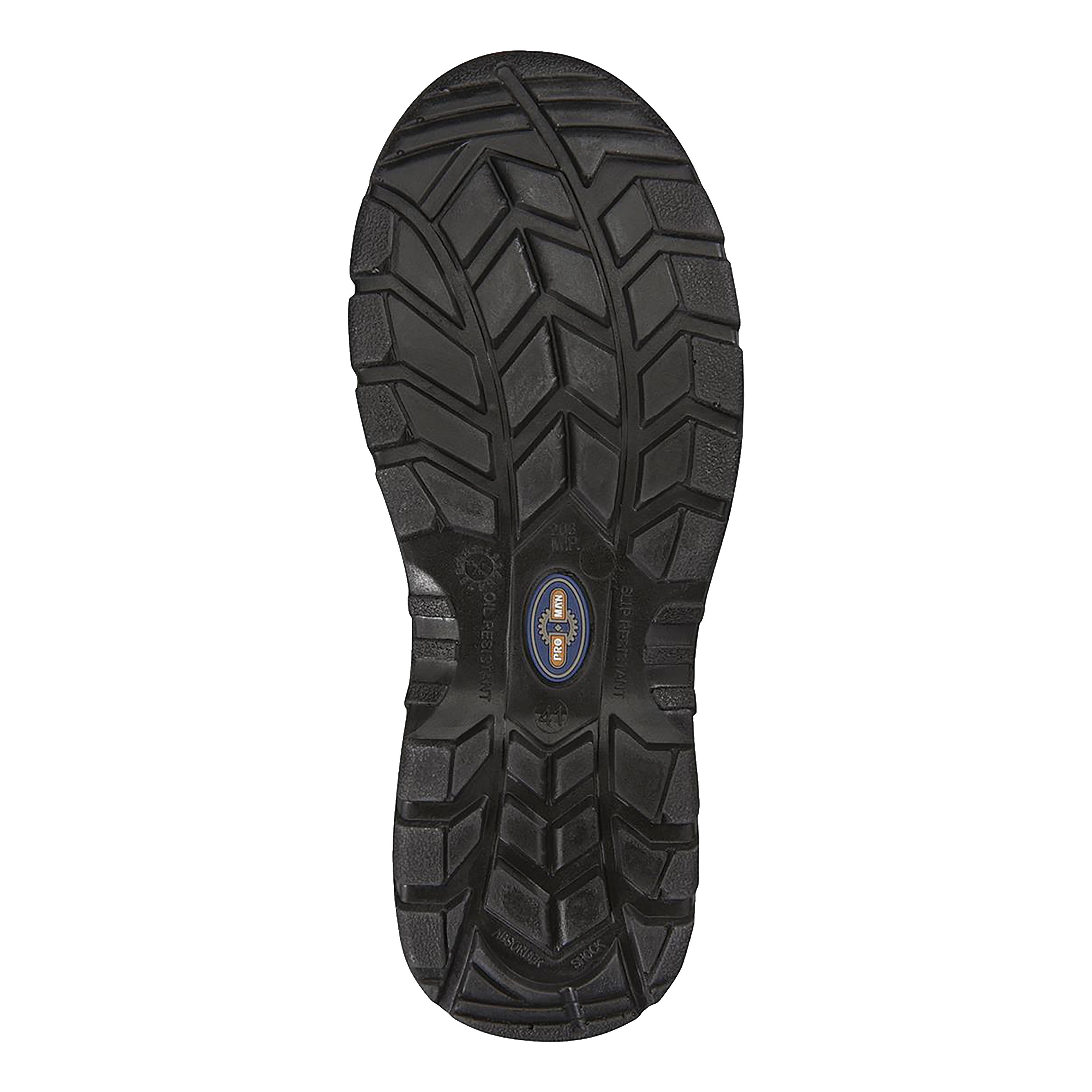Rockfall ProMan Chukka Shoe Leather Steel Toecap Black Size 7 Ref PM102 7