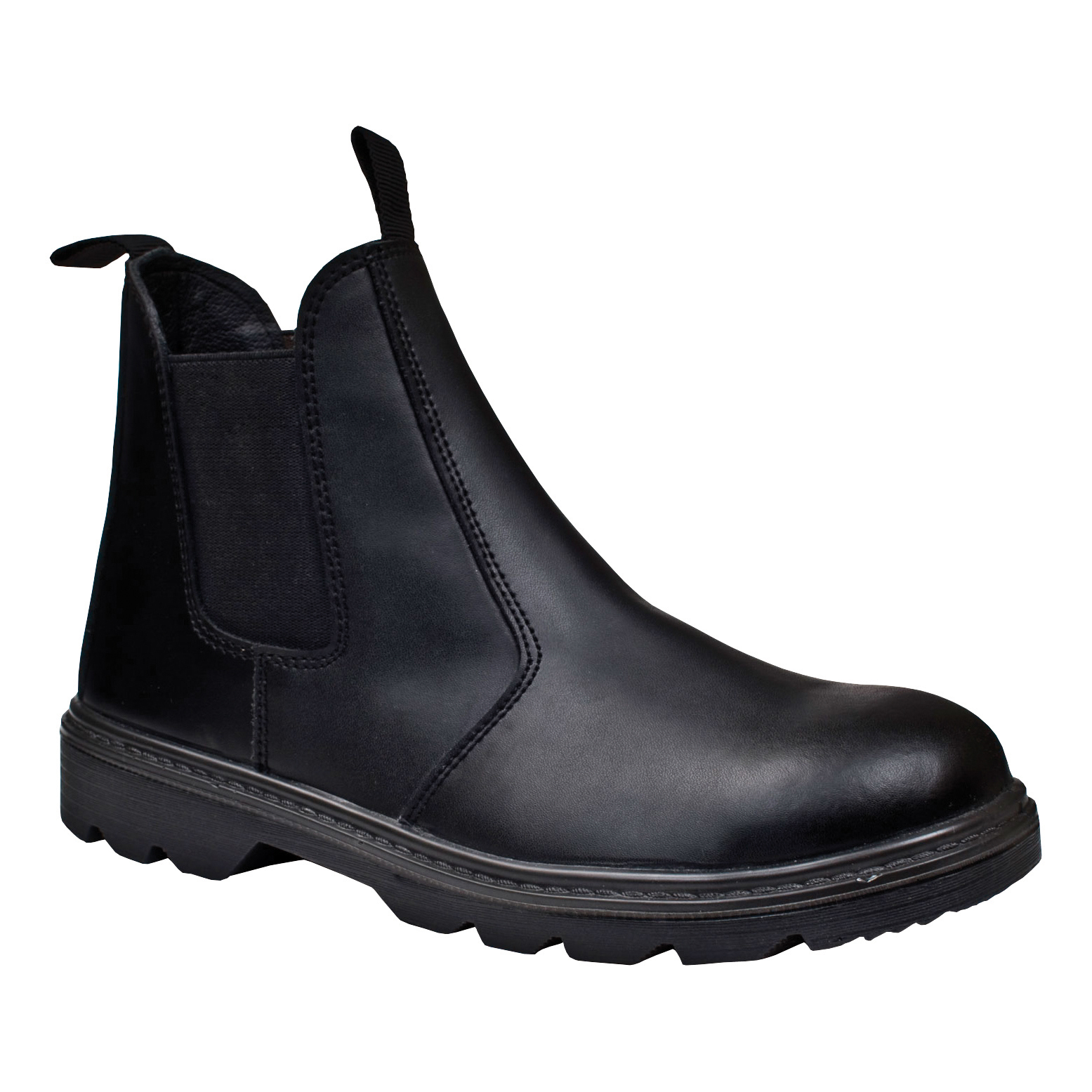 ST Dealer Boot Leather Pull-On Design with Safety Toecap Size 11 Black Ref 93276 *Approx 3 Day Leadtime*