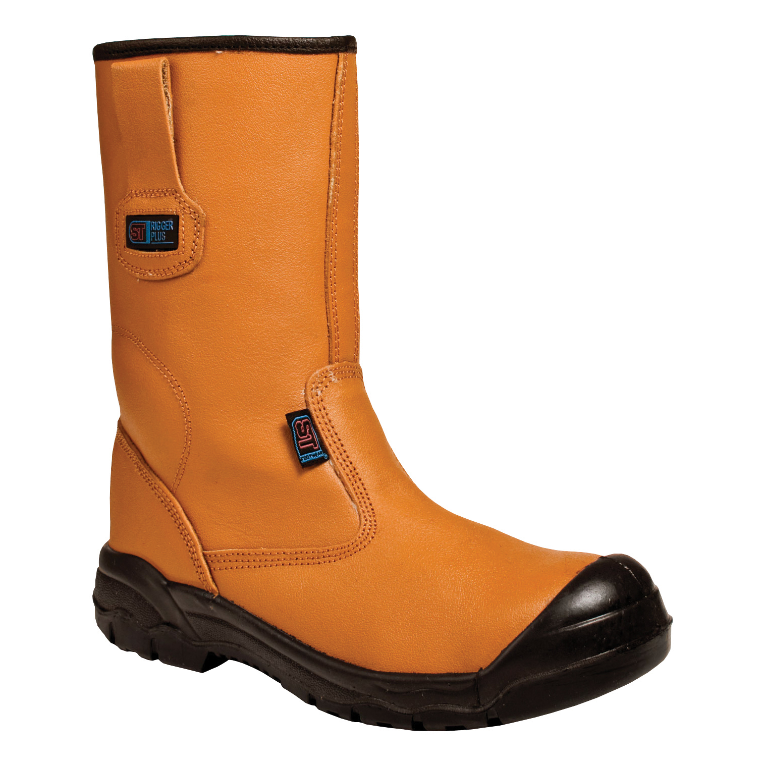 Supertouch Rigger Boot Plus Leather with Rubber Toecap Size 11 Tan Ref 90516 *Approx 3 Day Leadtime*