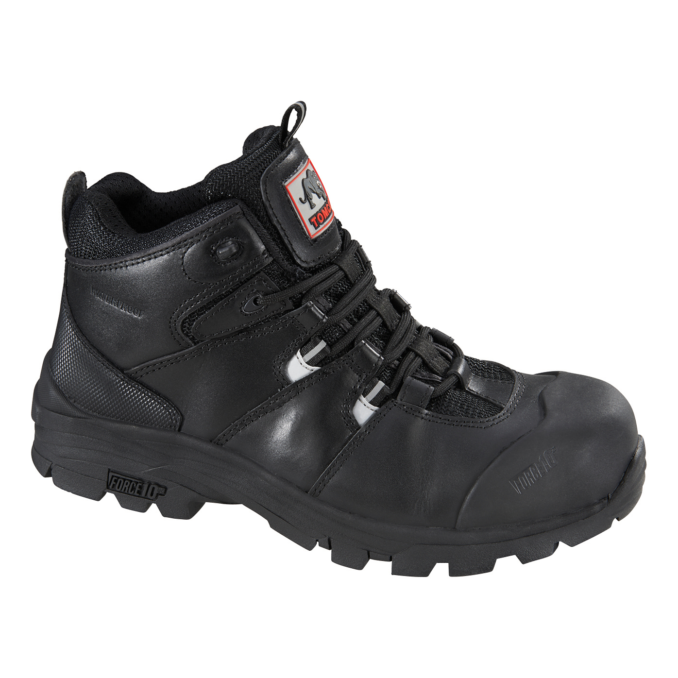 Rockfall Peakmoor Hiker Boot 100% Non-Metallic F/Glass Toecap Size 10 Blk Ref TC4200-10 5-7 Day L/Time