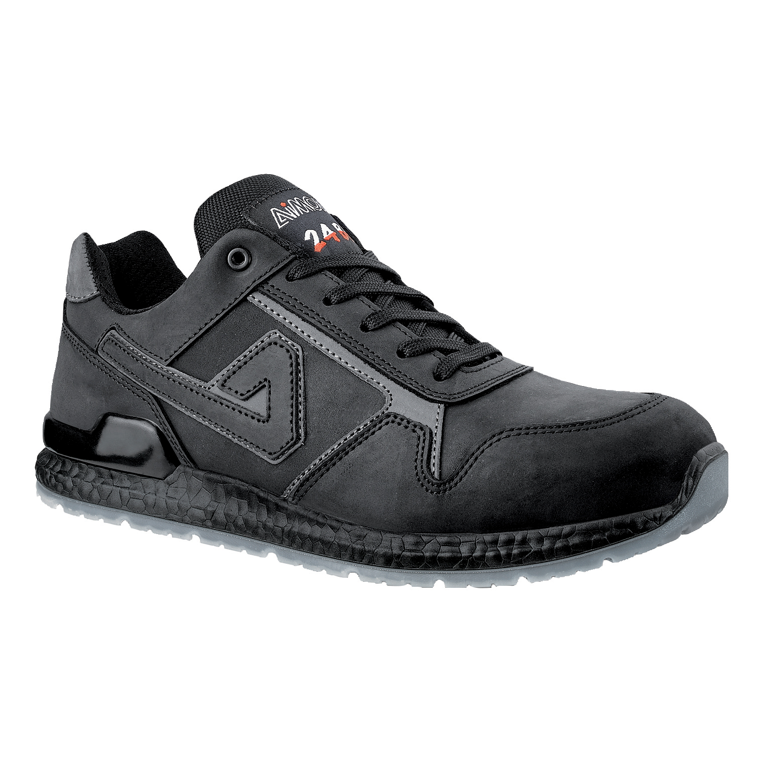 Aimont Calvin Safety Trainers Protective Toecap Size 8 Black Ref AB10608 [Pair]
