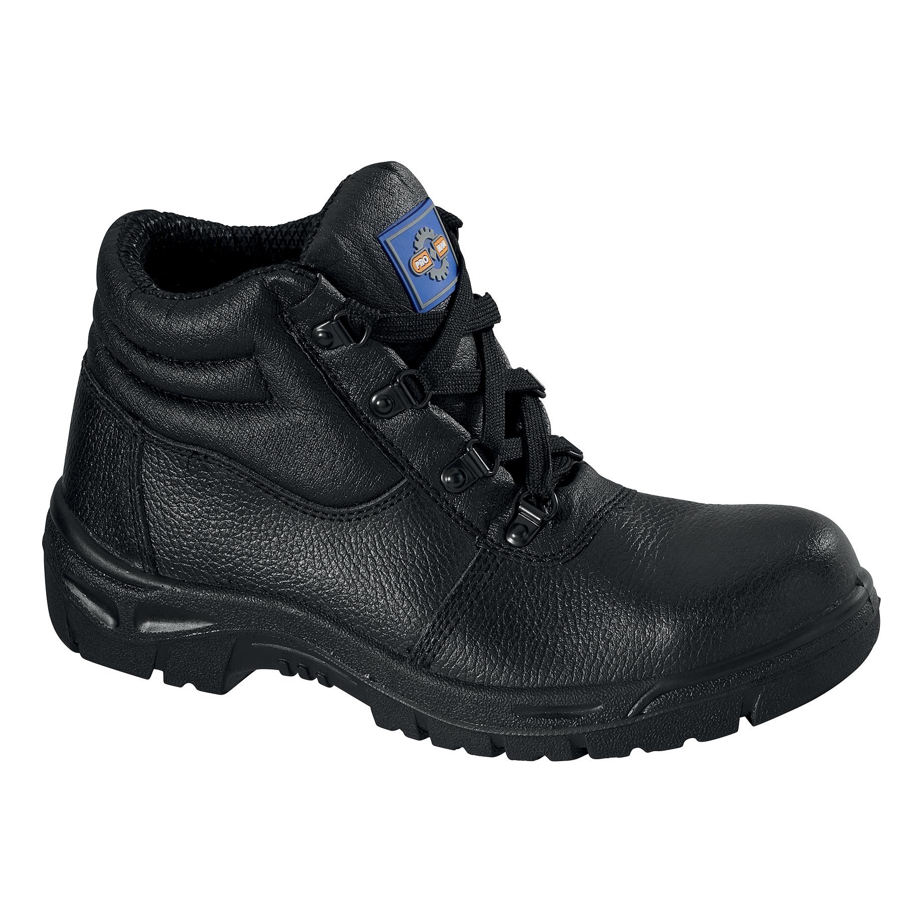 Chukka Boot Leather Steel Toecap & Midsole Size 8 Black Ref PM100 8