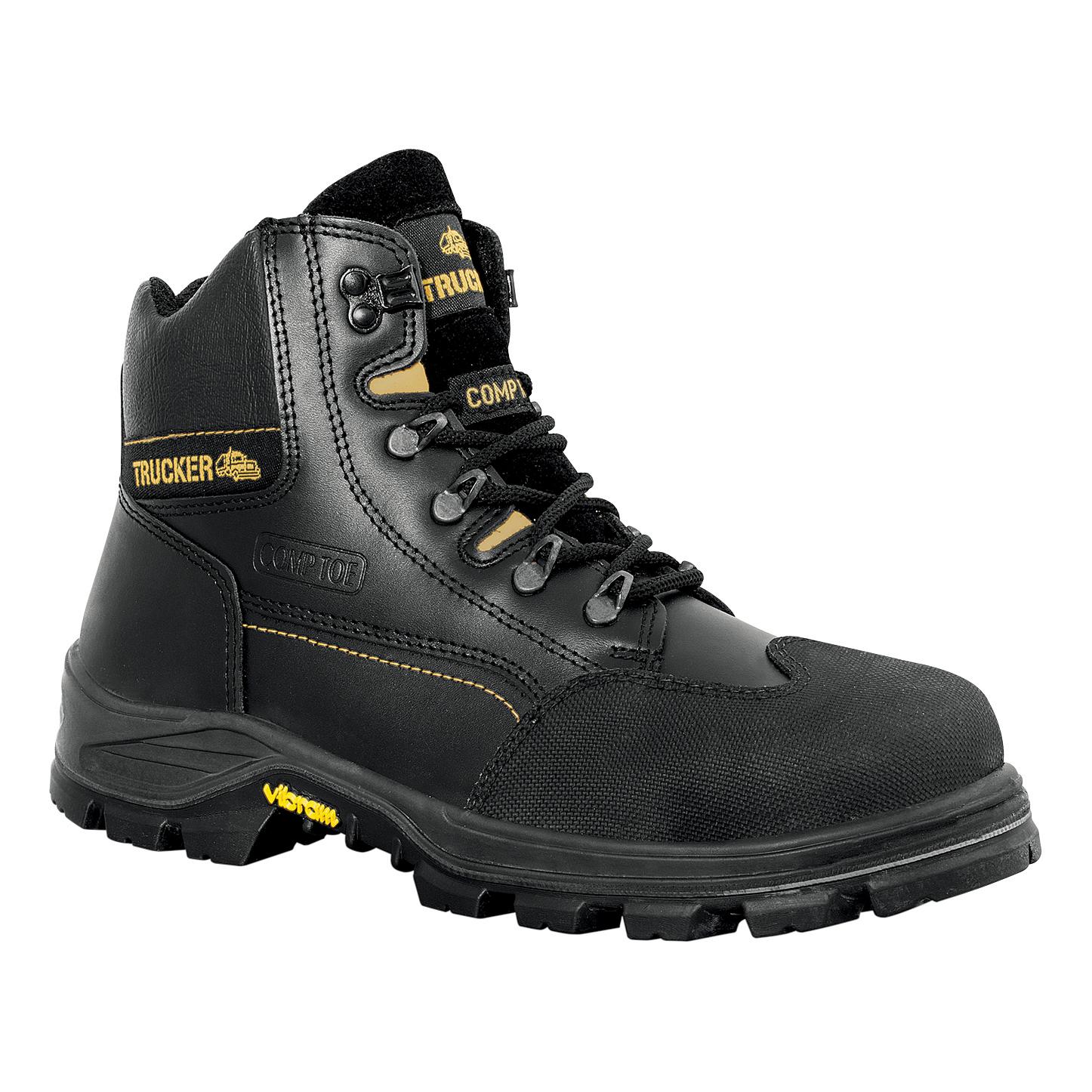Aimont Revenger Safety Boots Protective Toecap Size 12 Black Ref 7TR0612 Pair