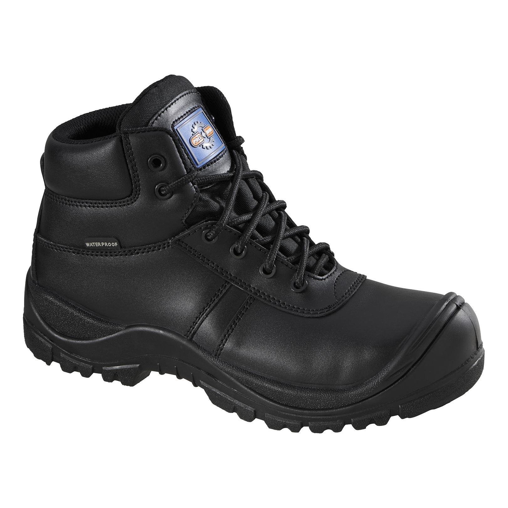 Rockfall Proman Boot Leather Waterproof 100% Non-Metallic Size 10 Black Ref PM4008-10 *5-7 Day Leadtime*