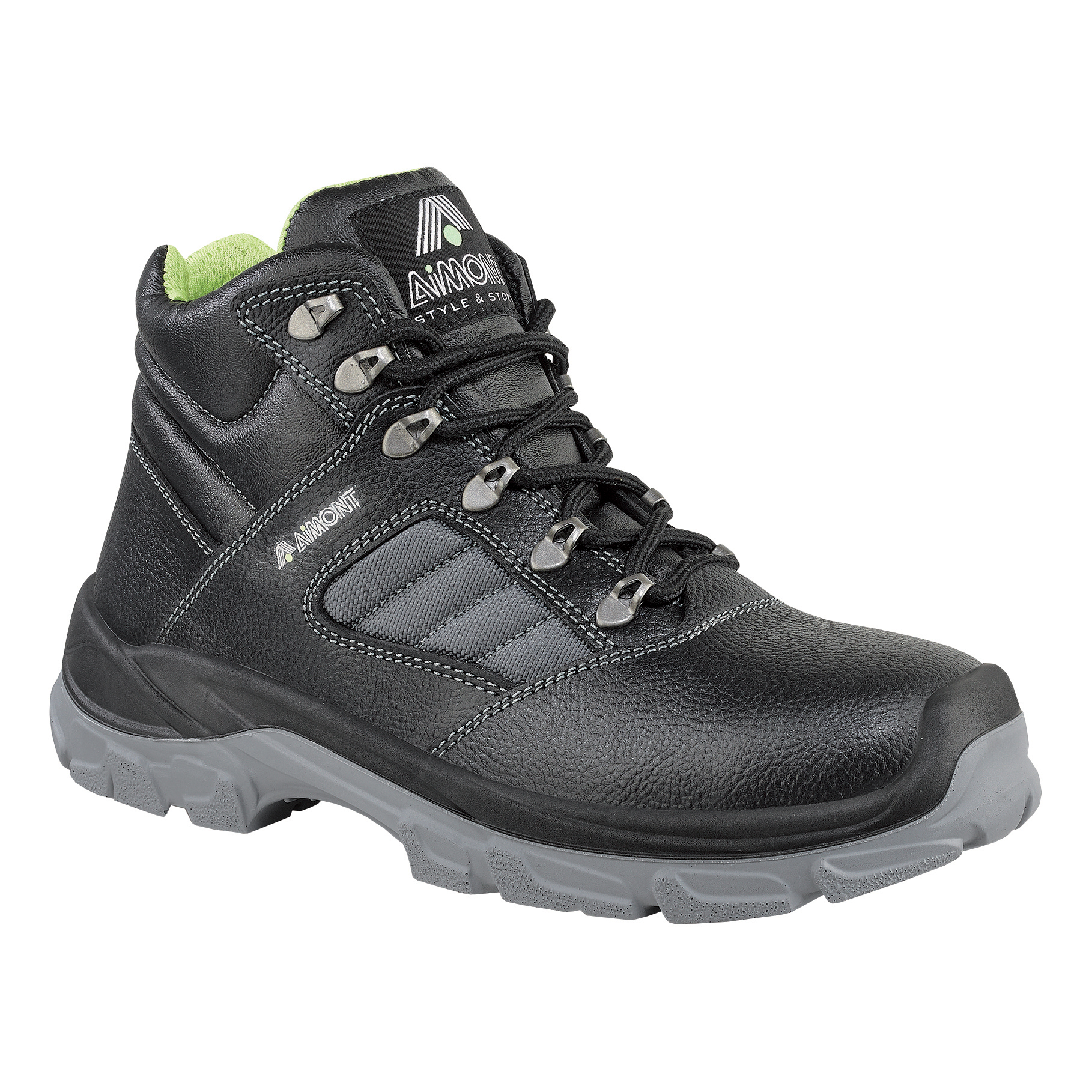 Aimont Rhino Safety Boots Protective Toecap Size 8 Black Ref DYC0508 [Pair]