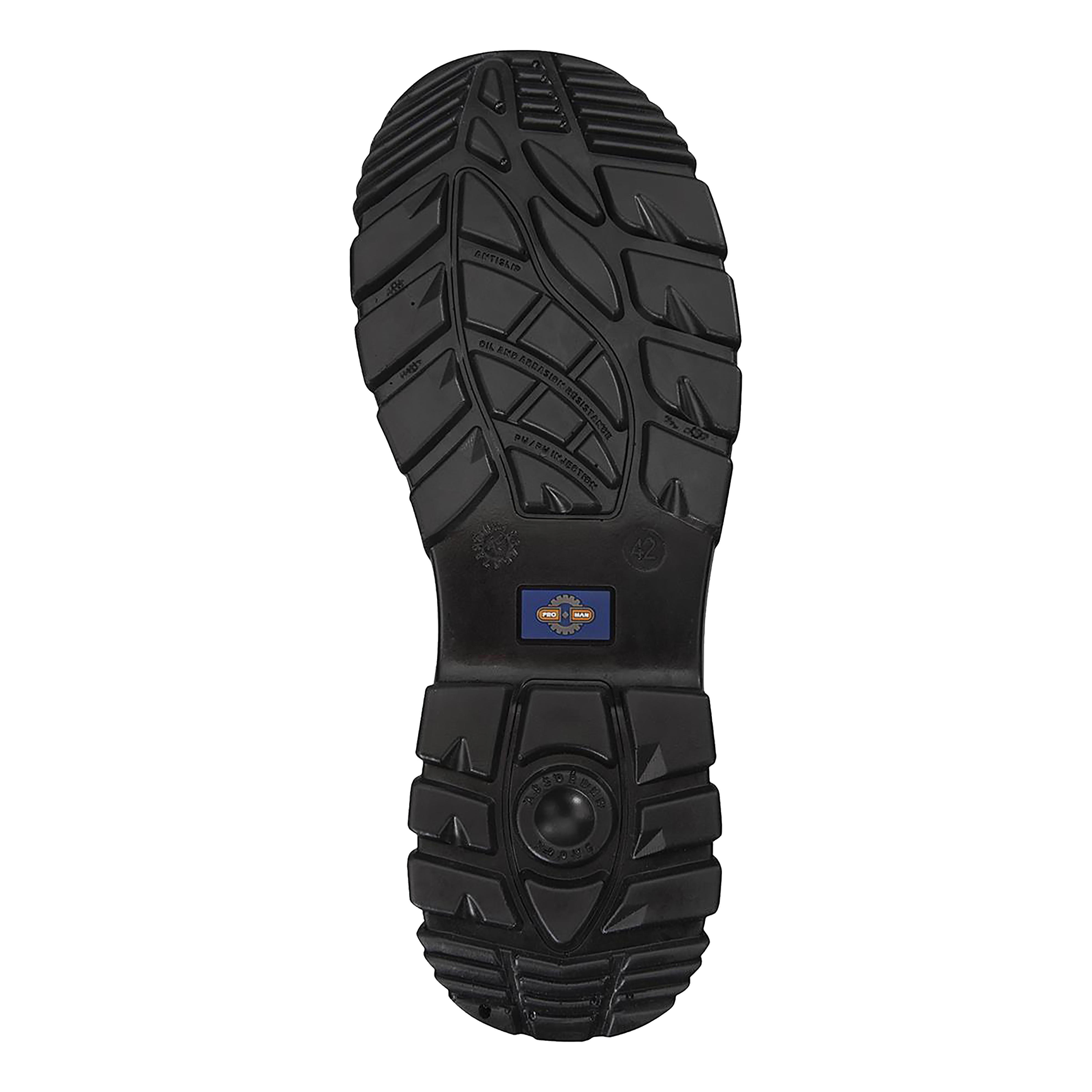 Rockfall ProMan Boot Suede Fibreglass Toecap Black Size 8 Ref PM4020 8