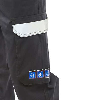 Click Arc Flash Trousers Fire Retardant Navy Blue 28 Ref CARC4N28 Up to 3 Day Leadtime