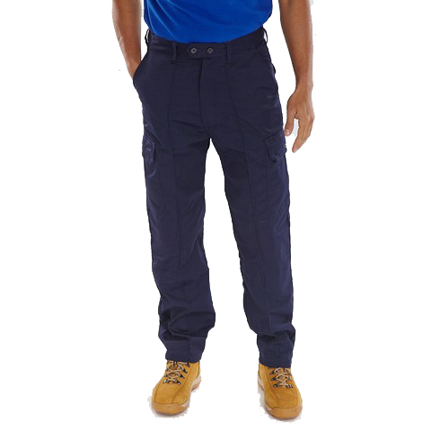 Super Click Workwear Drivers Trousers Navy Blue 52 Ref PCTHWN52 *Up to 3 Day Leadtime*