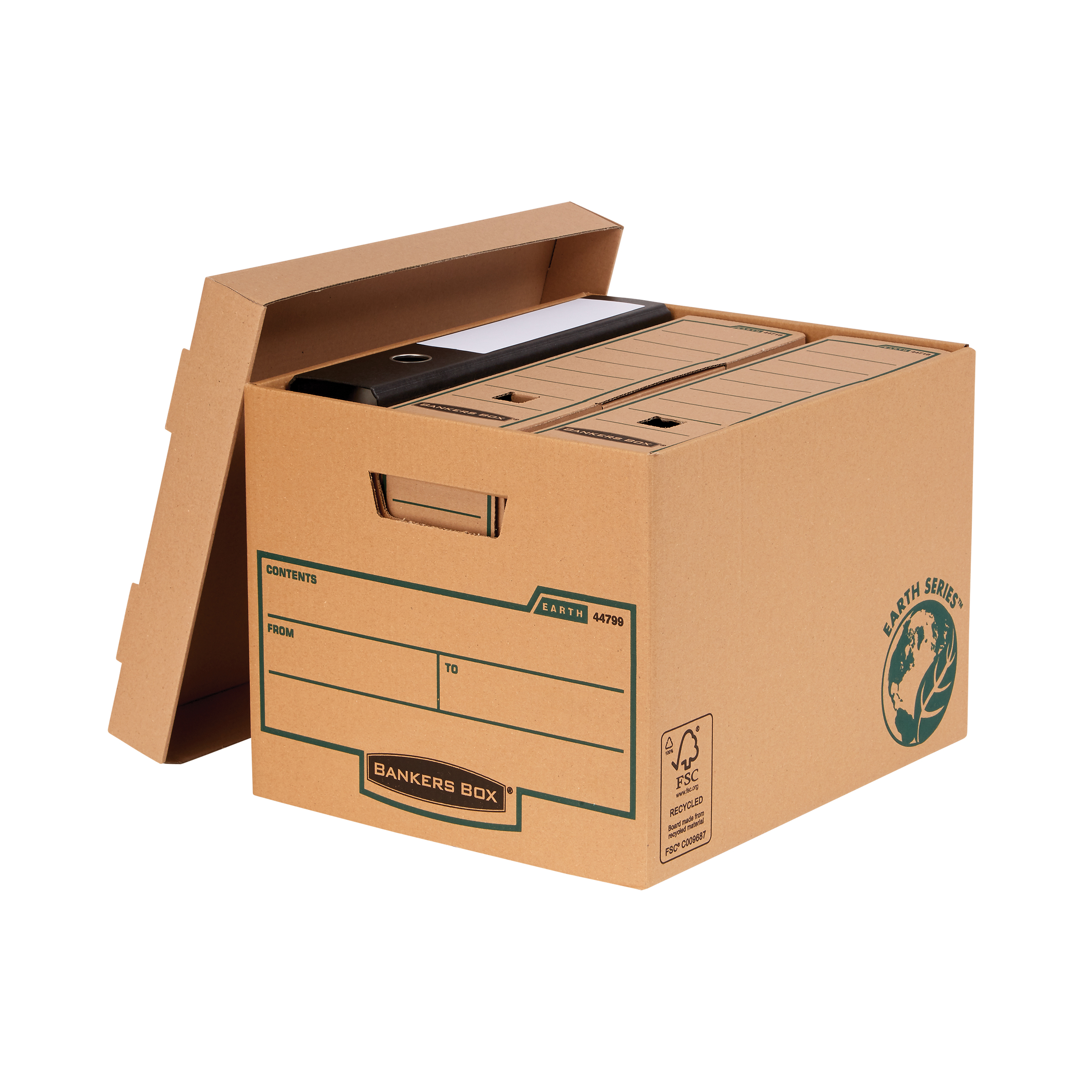 Storage Boxes Bankers Box by Fellowes FSC Earth Series Standard Storage Box Heavy-duty Brown Ref 4479901 Pack 10