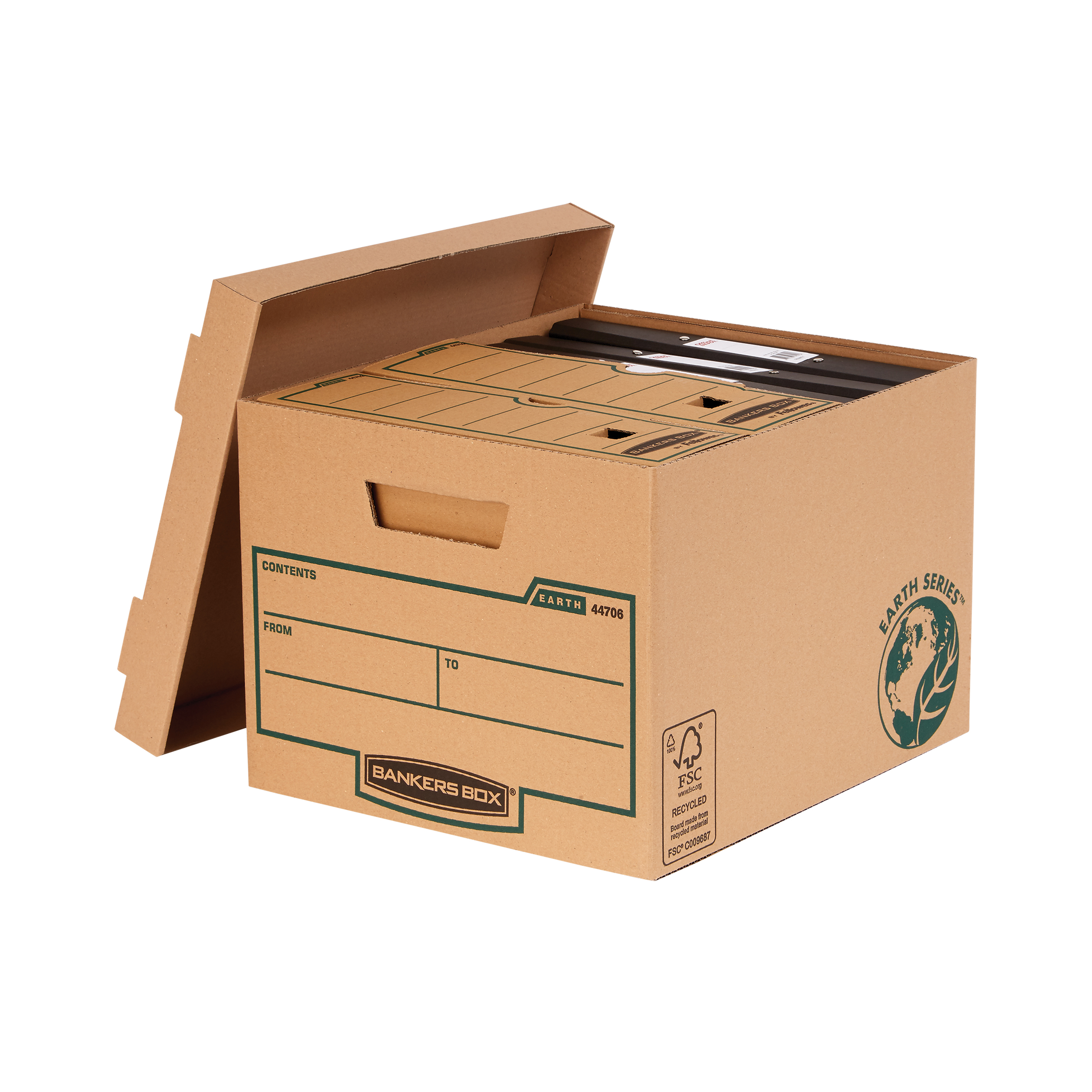 Storage Boxes Bankers Box by Fellowes FSC Earth Series Standard Storage Box Brown Ref 4470601 [Pack 10]