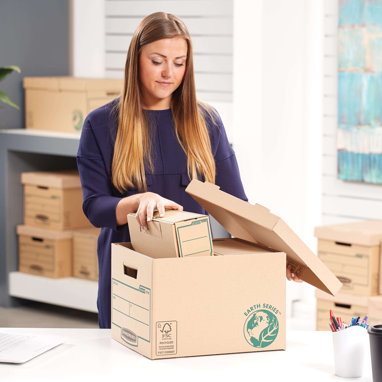 Fellowes Bankers Box Earth Series Standard Storage Box FSC Ref 4470601 Pack 10