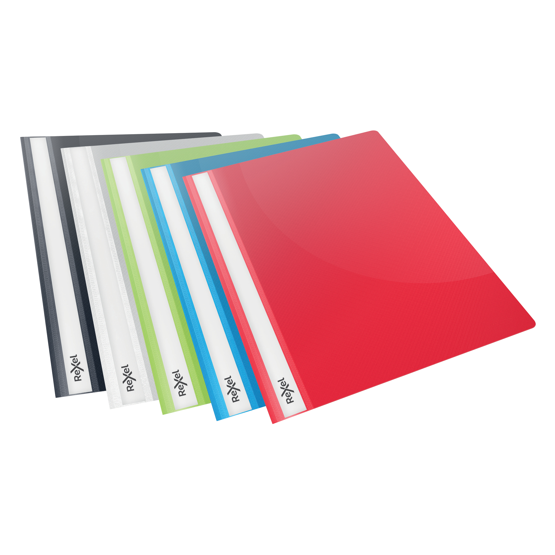 Folders Rexel Choices Report Fldr Clear Front Capacity 160 Sheets A4 Astd Ref 2115641 Pack 25