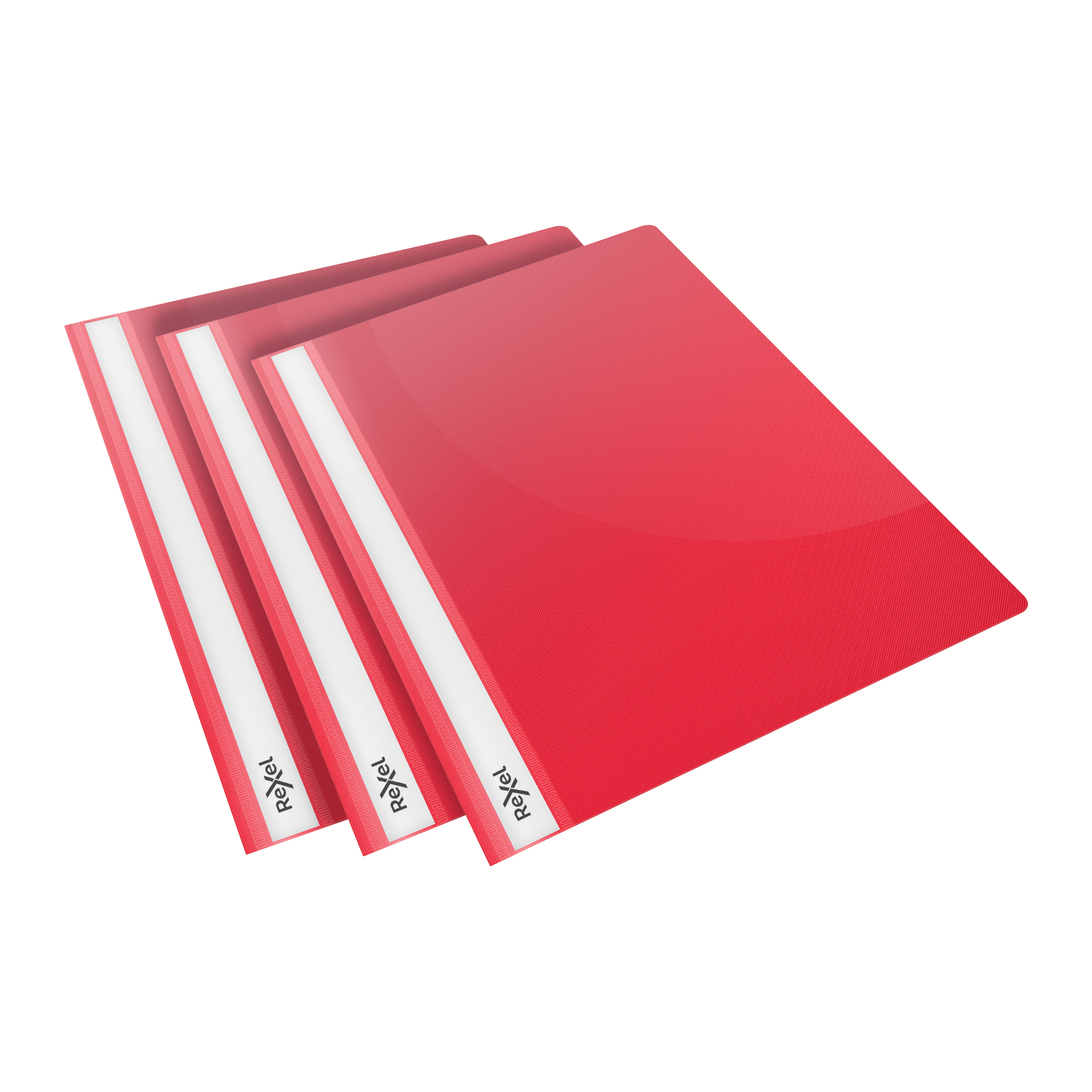 Folders Rexel Choices Report Fldr Clear Front Capacity 160 Sheets A4 Red Ref 2115642 Pack 25