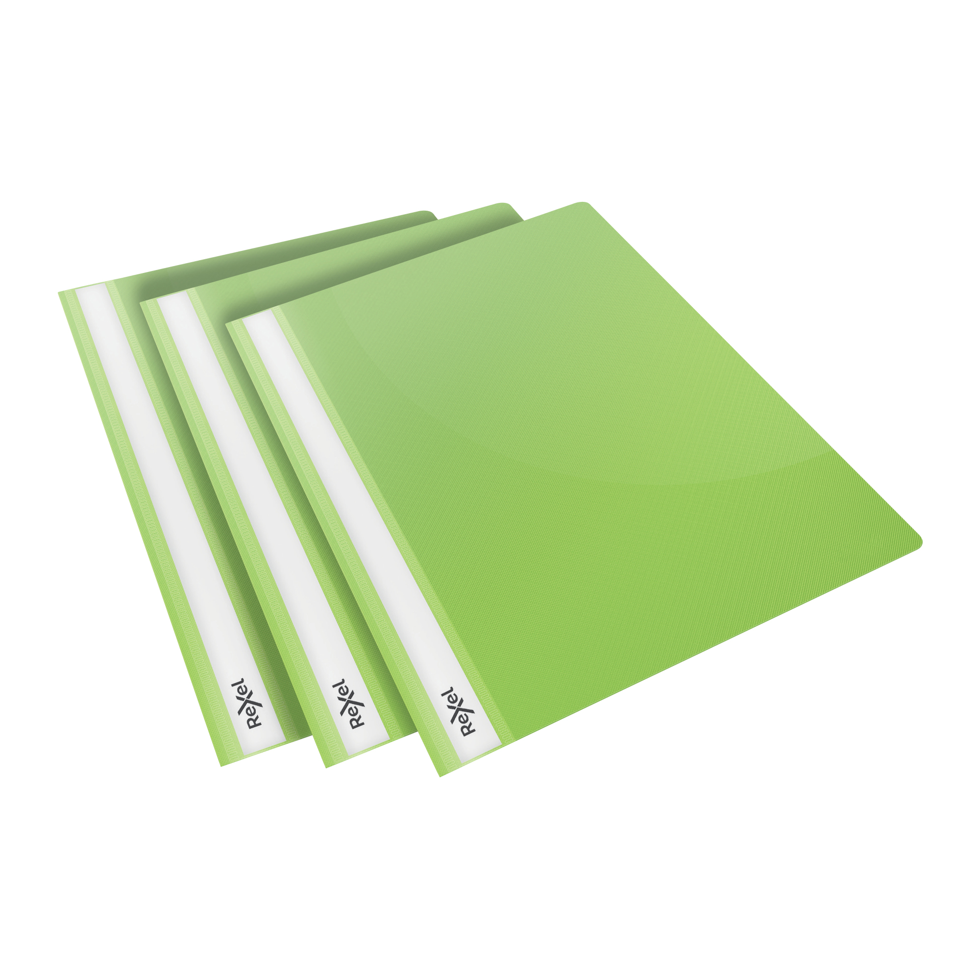 Folders Rexel Choices Report Fldr Clear Front Capacity 160 Sheets A4 Green Ref 2115643 Pack 25