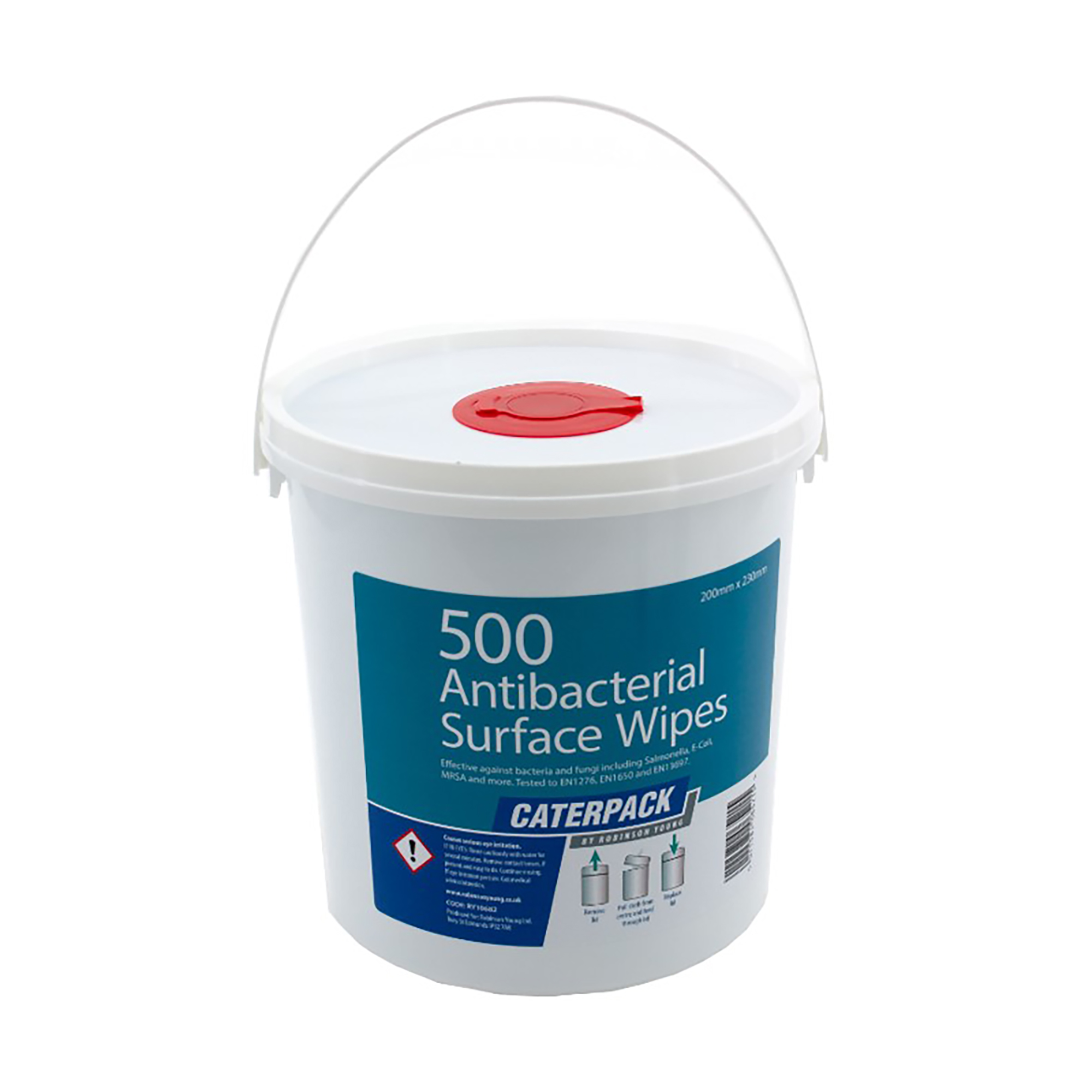 Robinson Young Caterpack Wipes Antibacterial Disinfectant 200x230mm Ref 10682 Pack 500