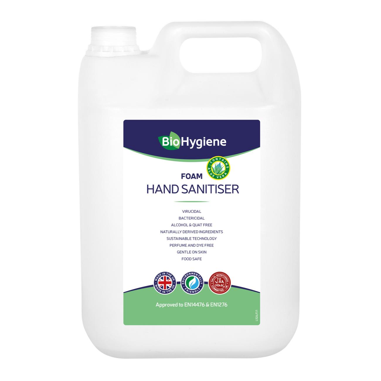 Hand cleaner BioHygiene Foam Hand Sanitiser 5Litre Ref BH209