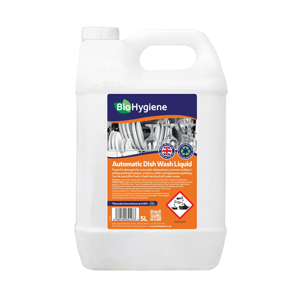 Dishwashing products BioHygiene Automatic Dish Wash Liquid 5Litre Bottle Ref BH172