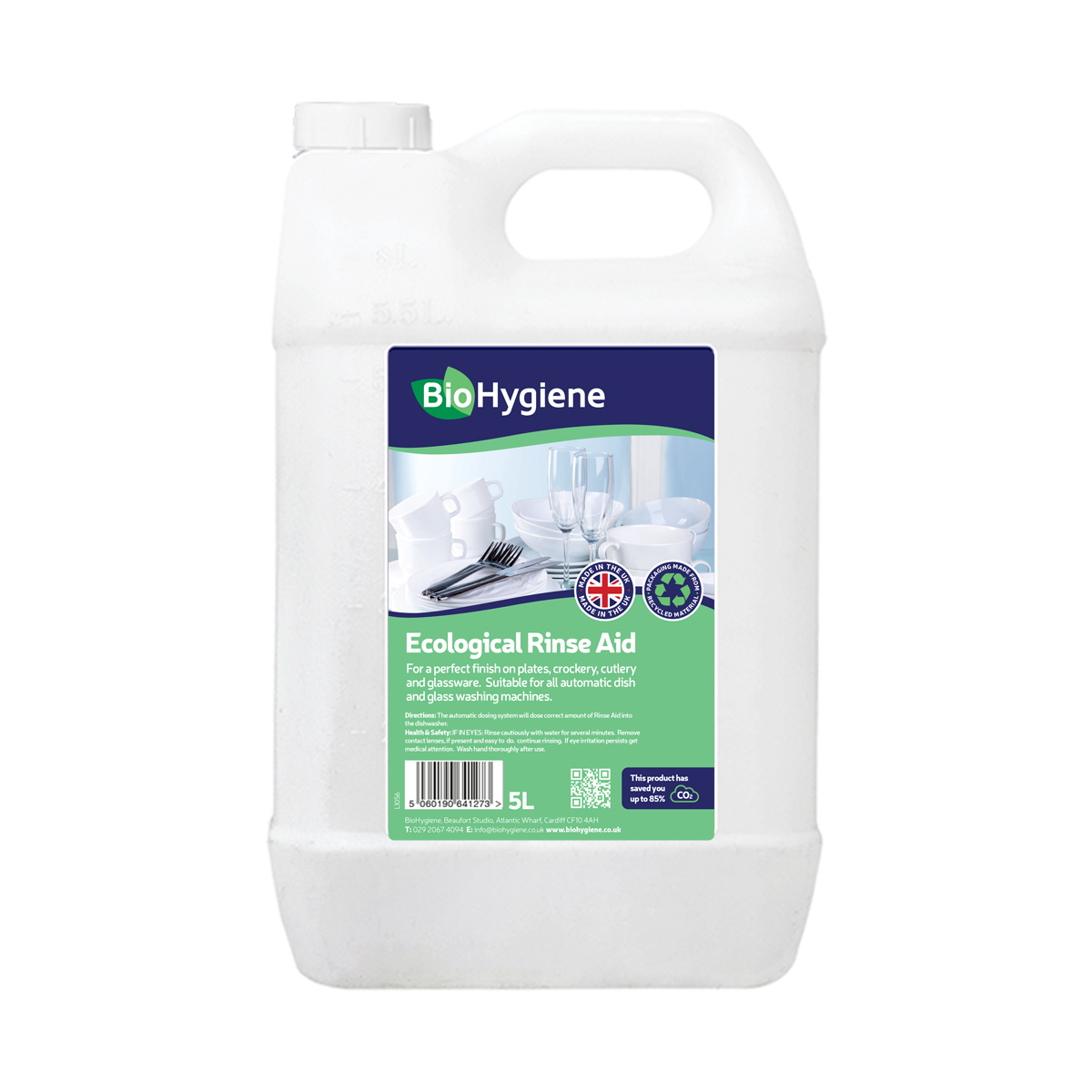 Dishwashing products BioHygiene Ecological Rinse Aid 5Litre Bottle Ref BH173