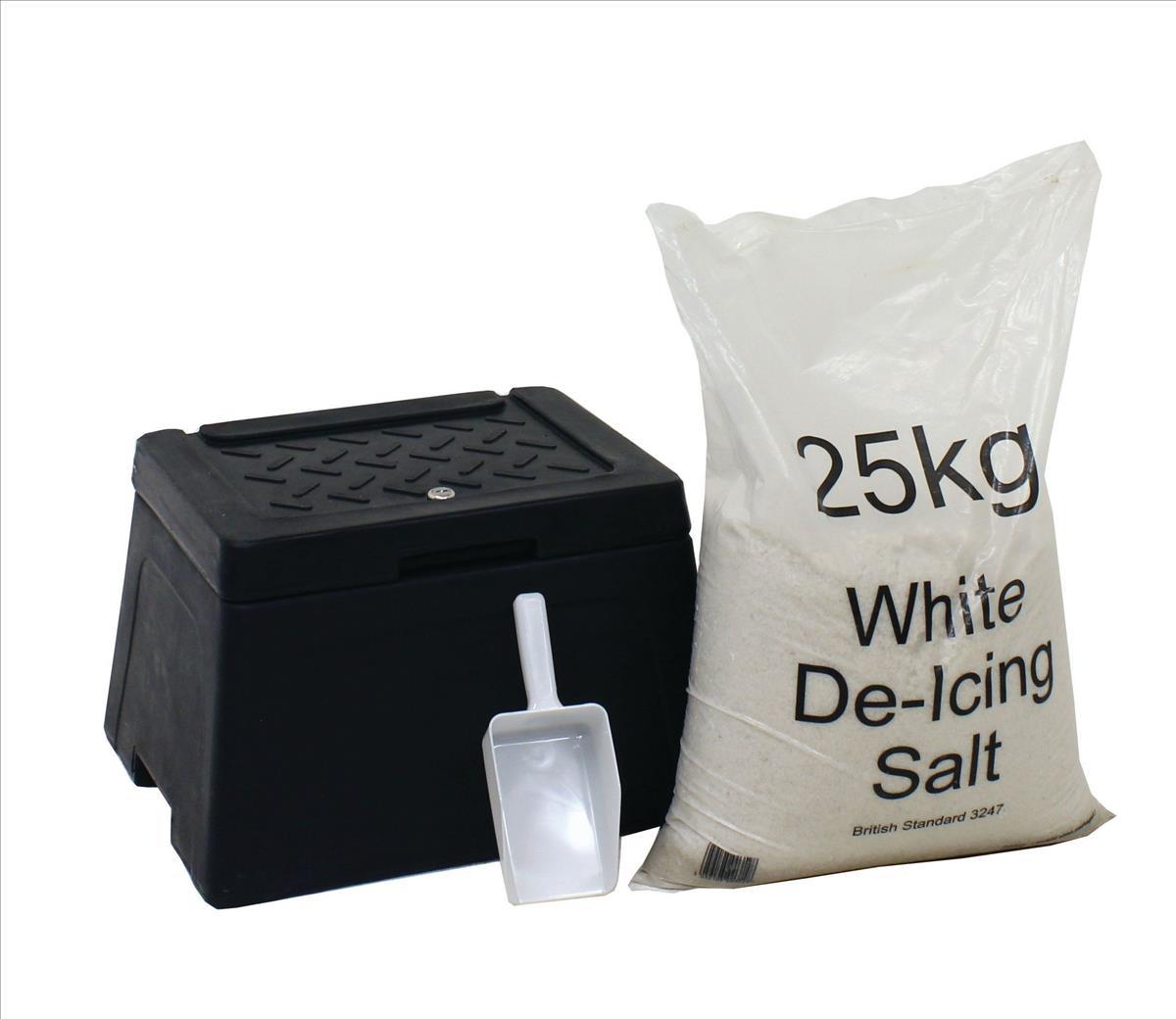 Image for Mini Grit Bin with Scoop and 25kg Salt Bag