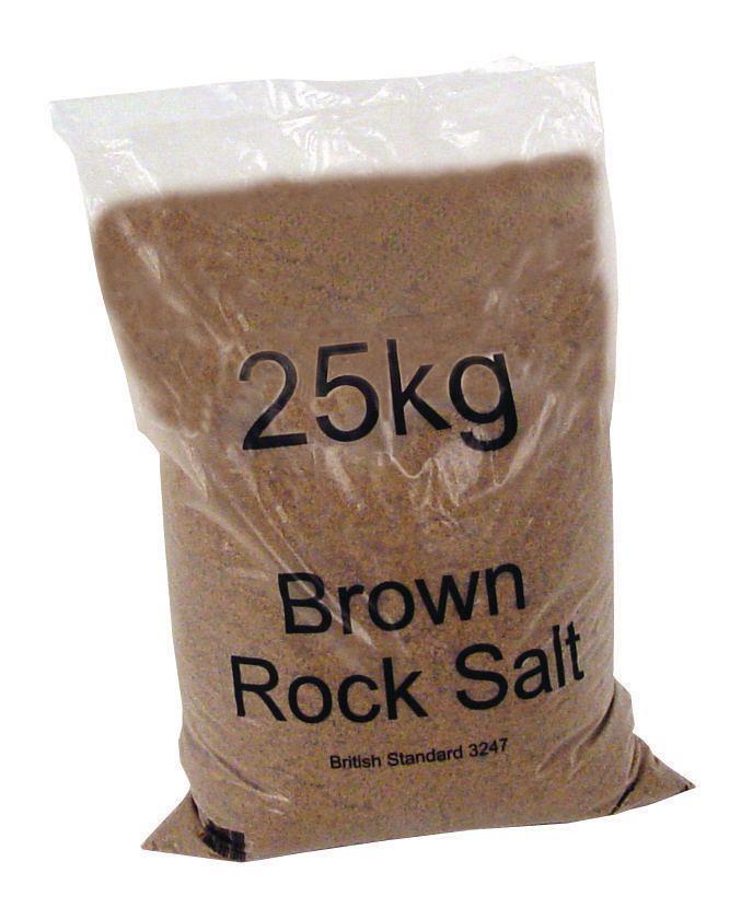 Rock Salt Bag De-icing 25kg Brown [Packed 40]