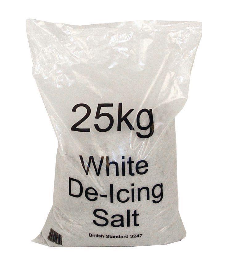 Salt Bag De-icing 25kg White [Packed 20]