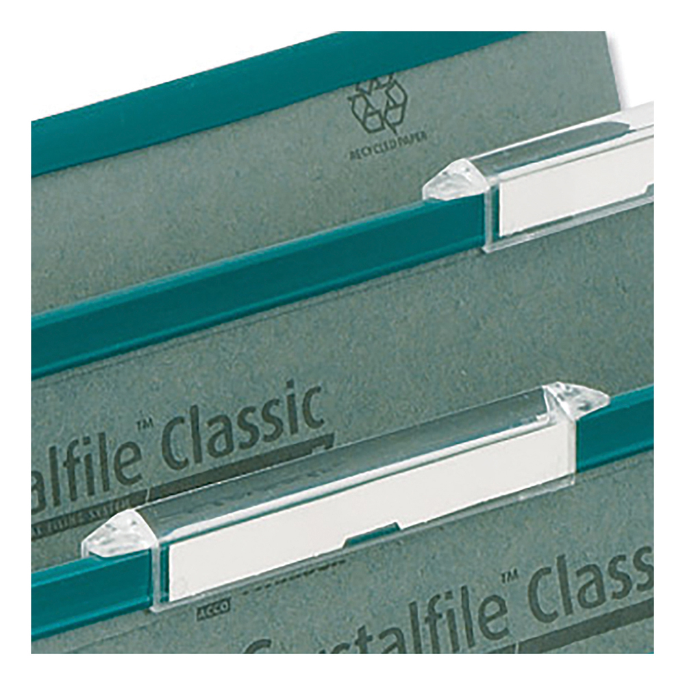 Tabs Rexel Crystalfile Classic Tabs Plastic Extra-deep for Suspension File Clear Ref 78289 Pack 50