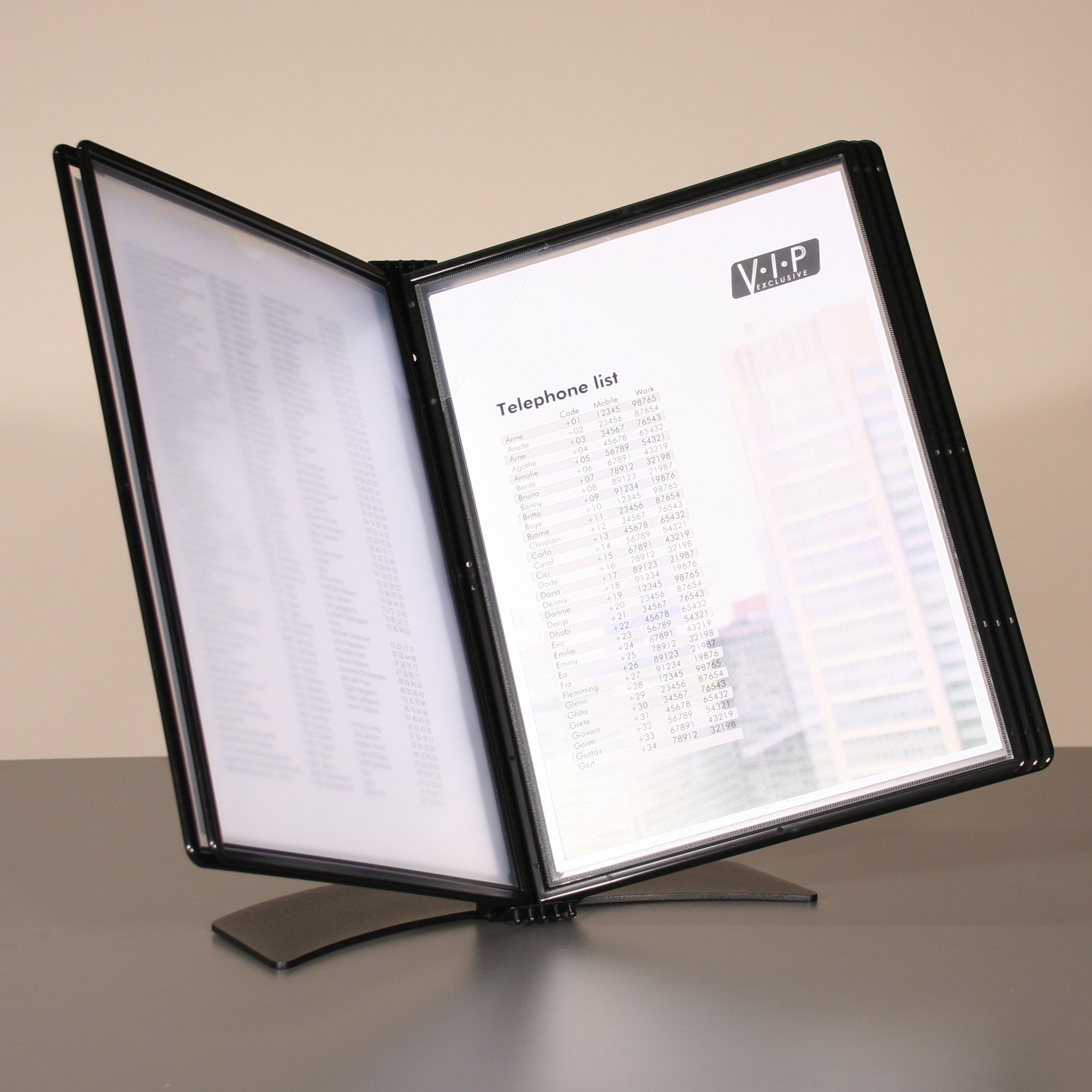 Display systems or its accessories Easy Mount A4 Desk Display System with 5 Pockets