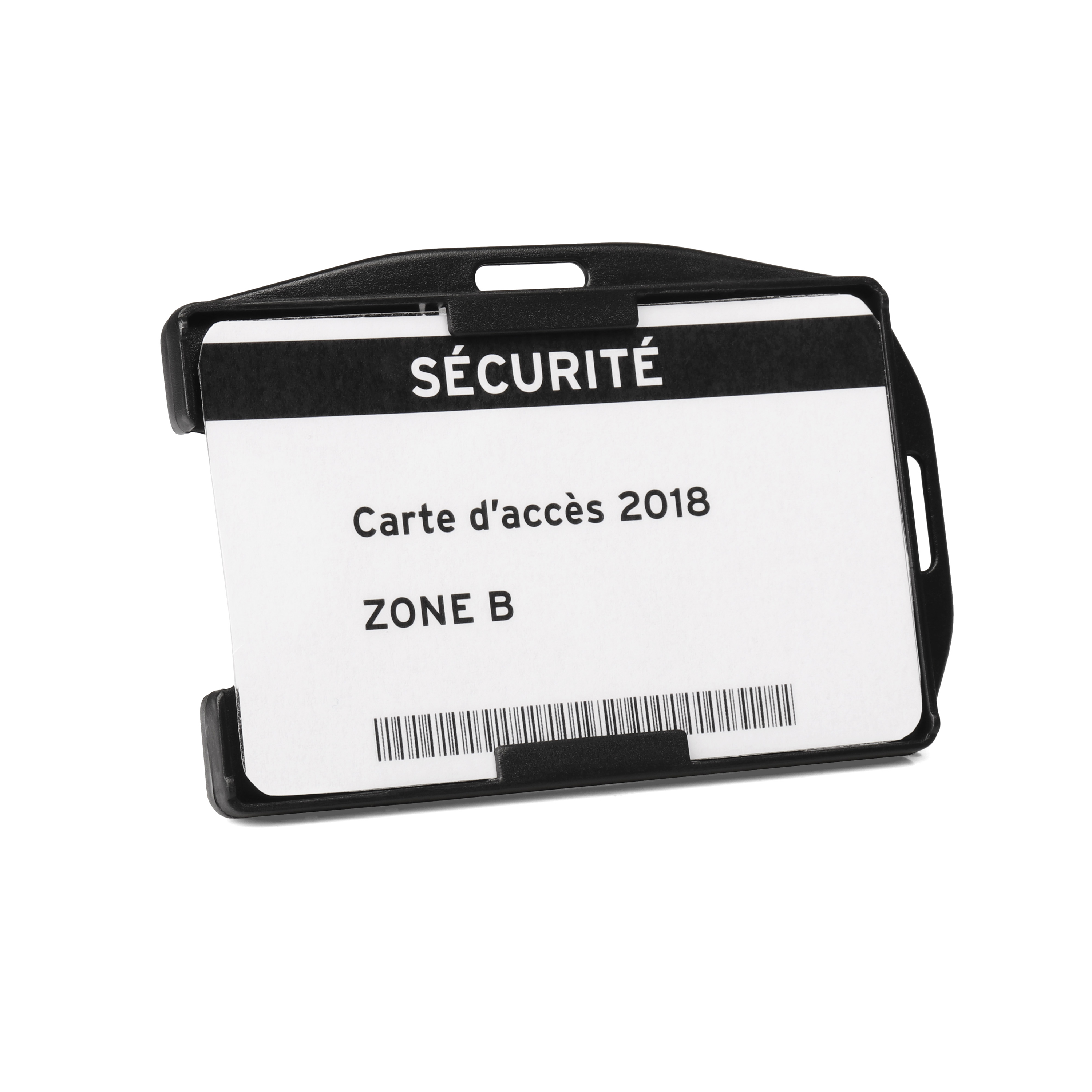 Badges or badge holders Tarifold Open faced Double ID card holders Black Pack 10