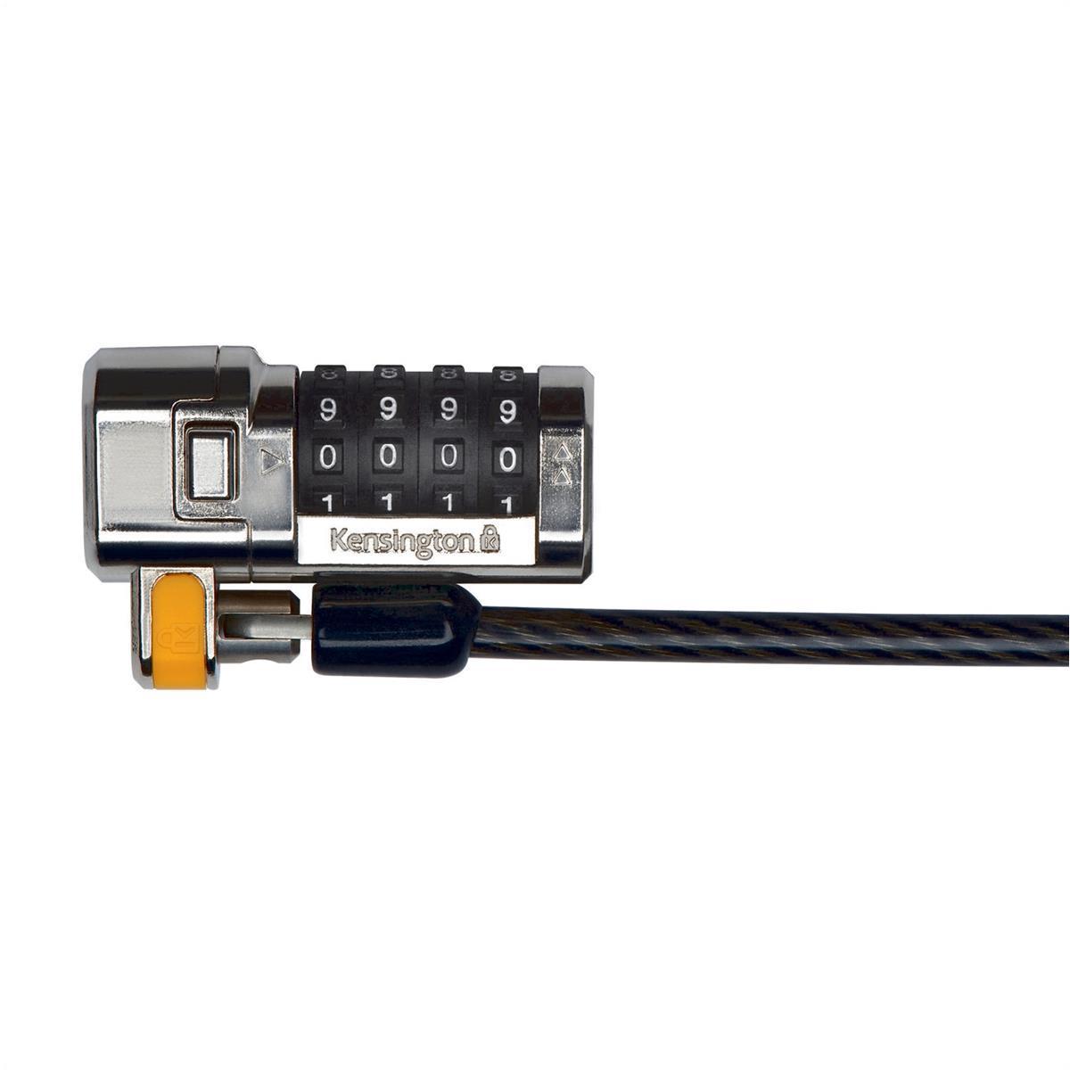 Kensington Ultra Laptop Combination Lock Resettable 10000 Combinations Cable 1800mm Ref K64697EU