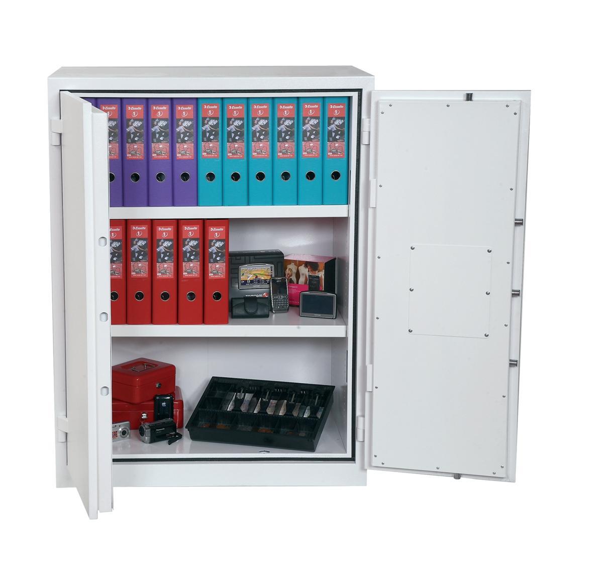 Phoenix Fire Ranger Steel Storage Cupboard Fire and Burglary Resistant W930xD520x1225mm Ref FS1512K