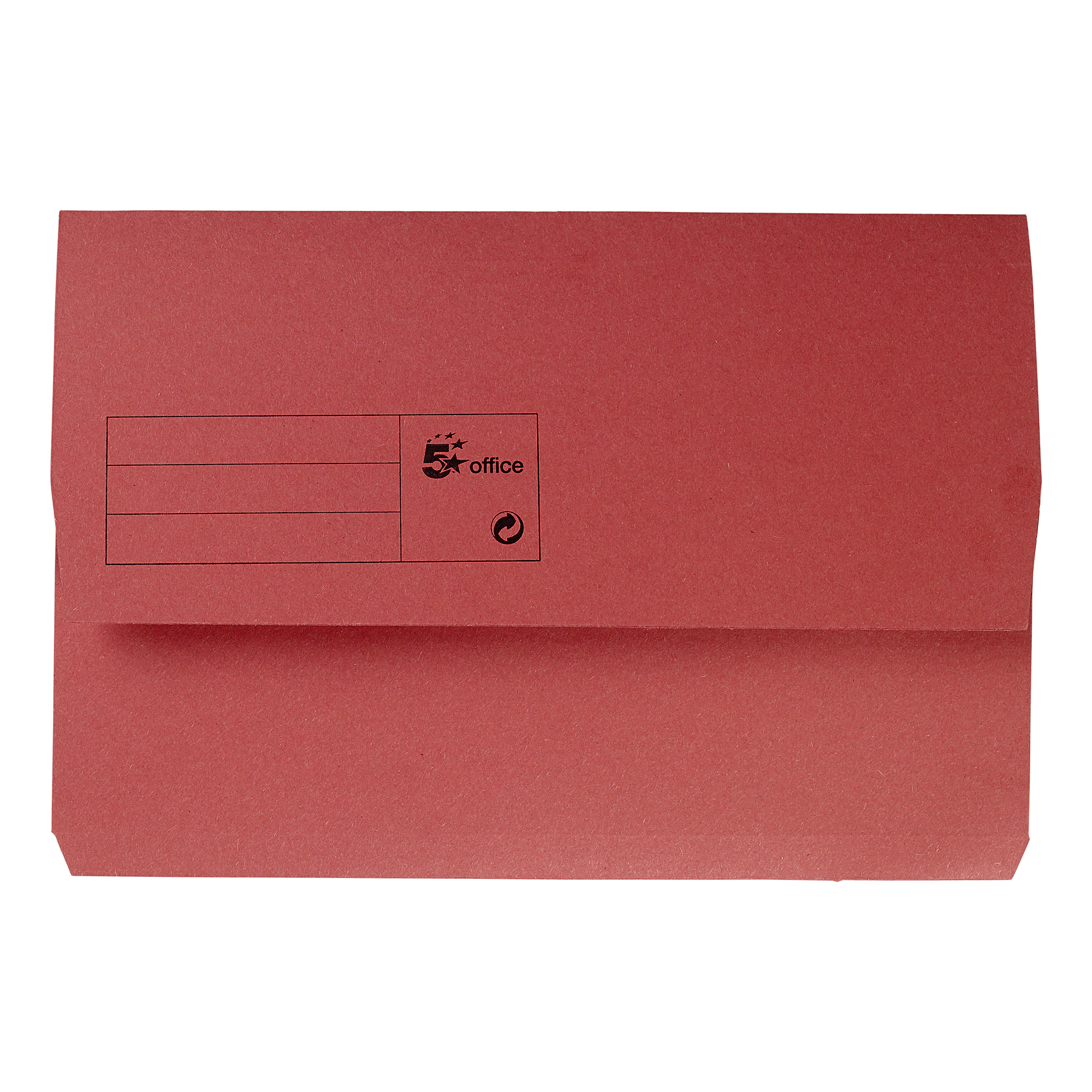 Document Wallets 5 Star Office Document Wallet Half Flap 285gsm Recycled Capacity 32mm Foolscap Red Pack 50