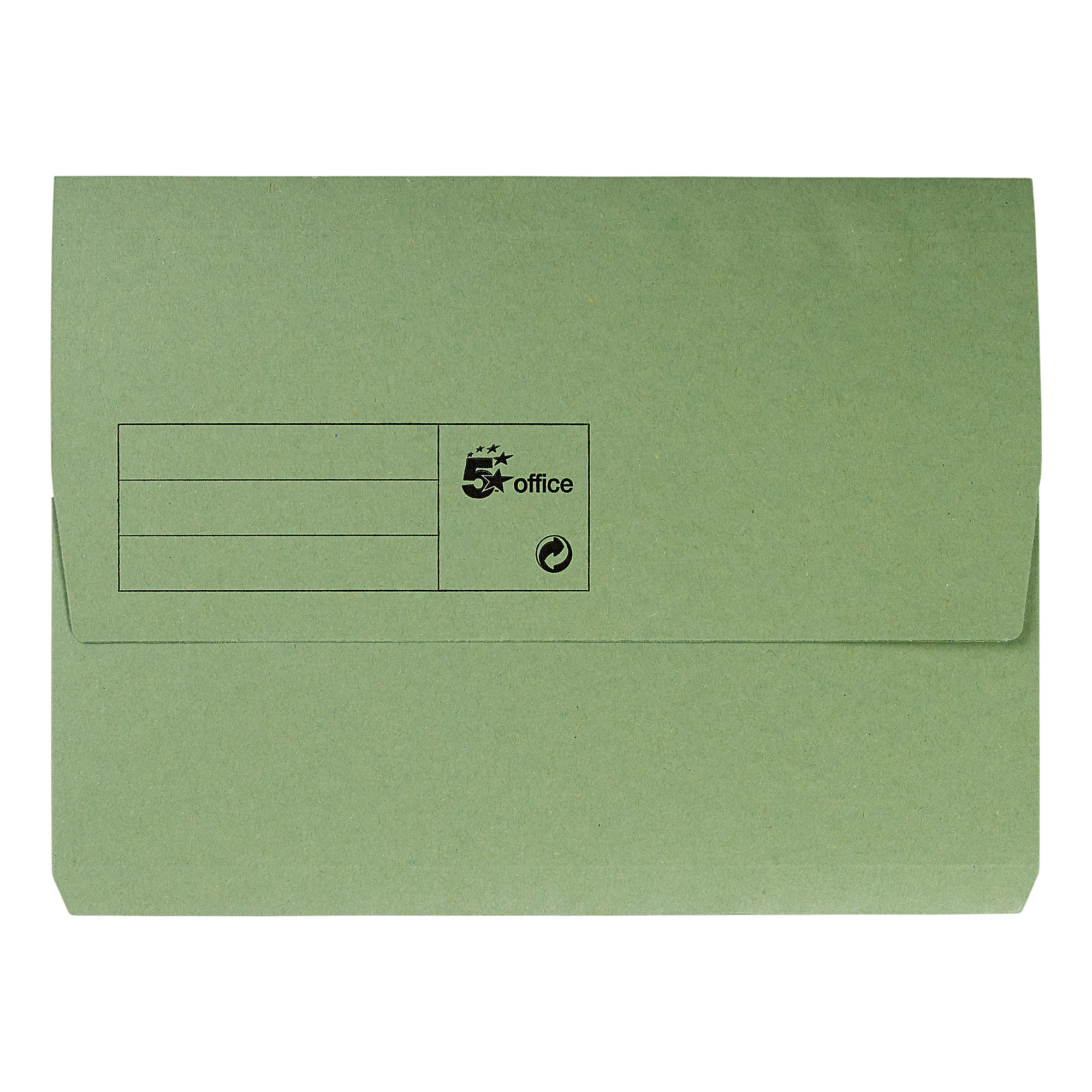 Document Wallets 5 Star Office Document Wallet Half Flap 285gsm Recycled Capacity 32mm A4 Green Pack 50
