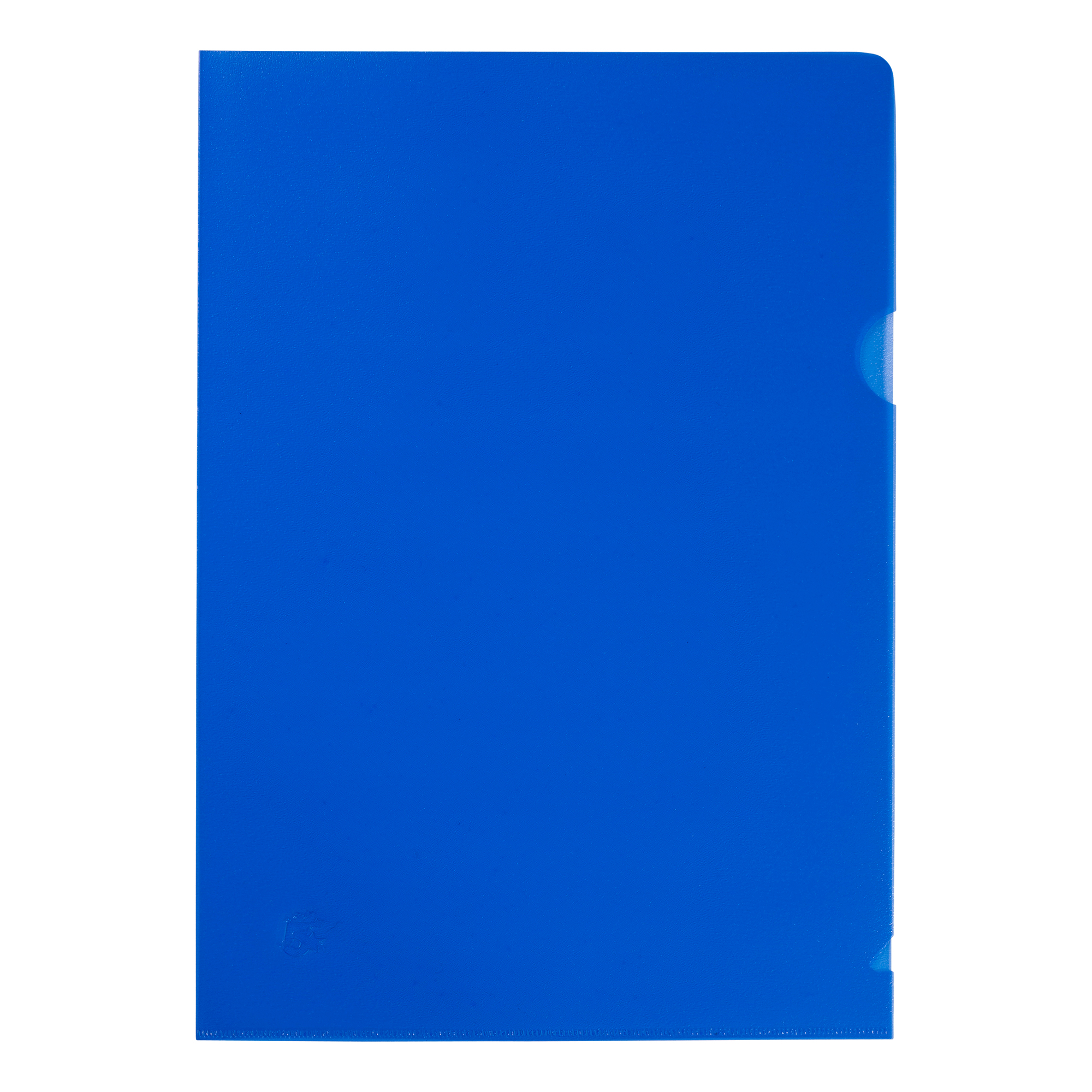 5 Star Office Folder Embossed Cut Flush Polypropylene Copy-safe Translucent 110 Micron A4 Blue Pack 25