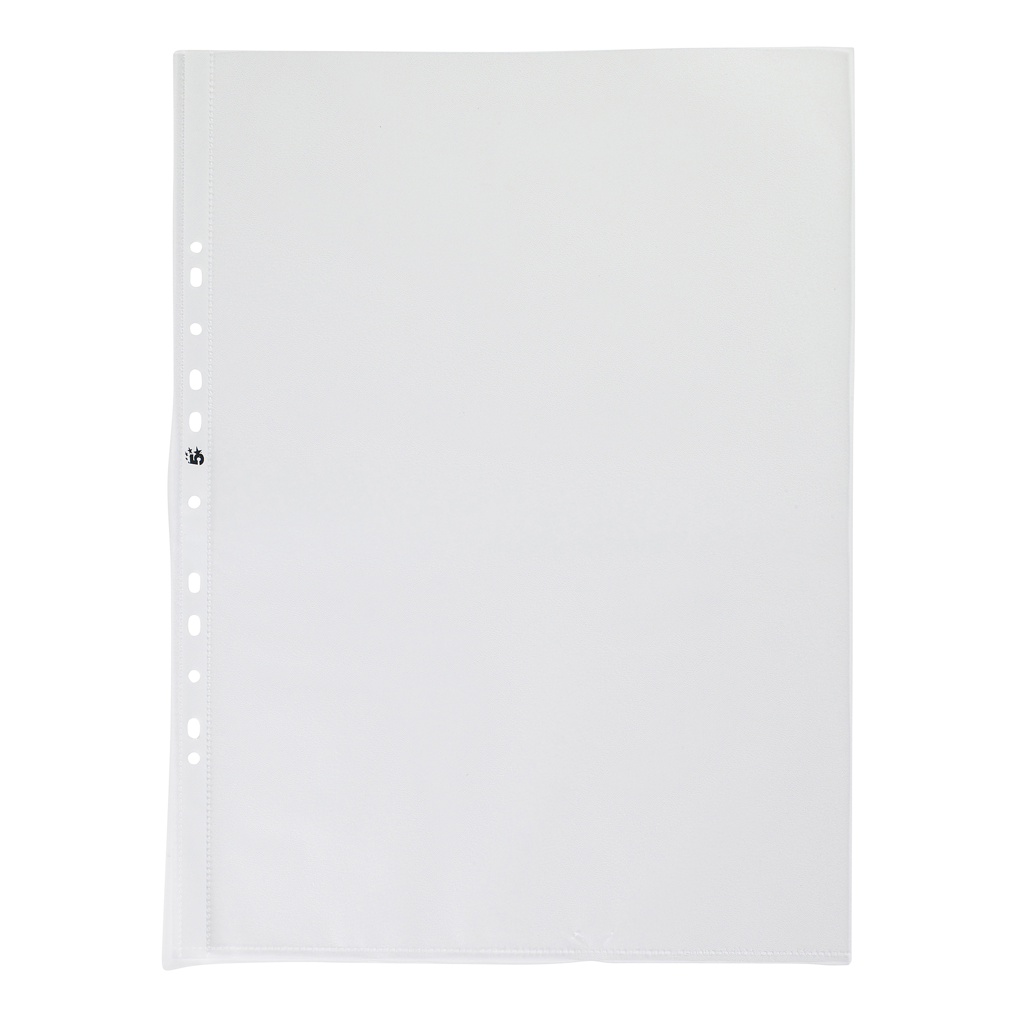 5 Star Office Punched Pocket Embossed Polypropylene Top-opening Portrait 90 Micron A3 Clear [Pack 25]