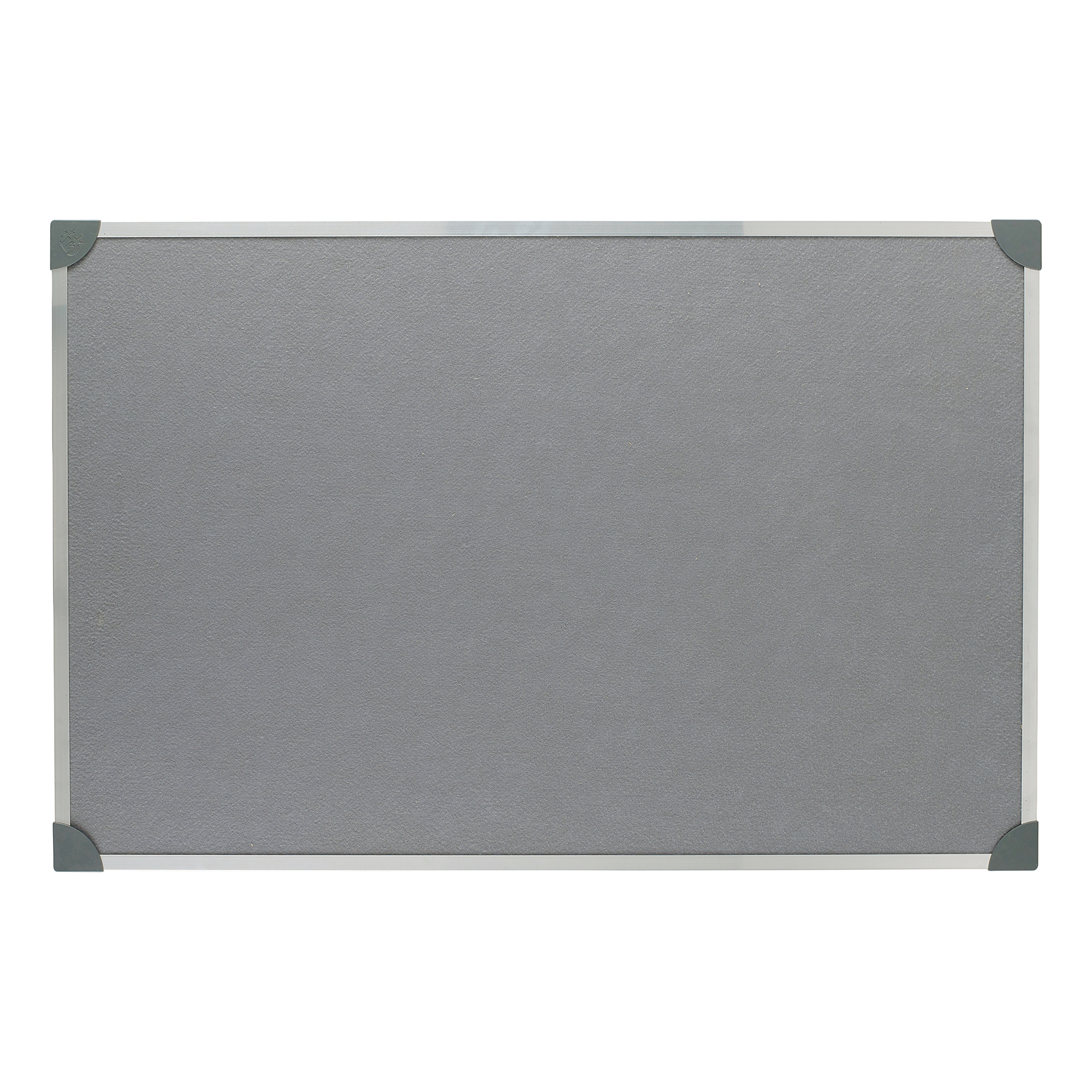 Felt 5 Star Office Felt Noticeboard with Fixings and Aluminium Trim W900xH600mm Grey