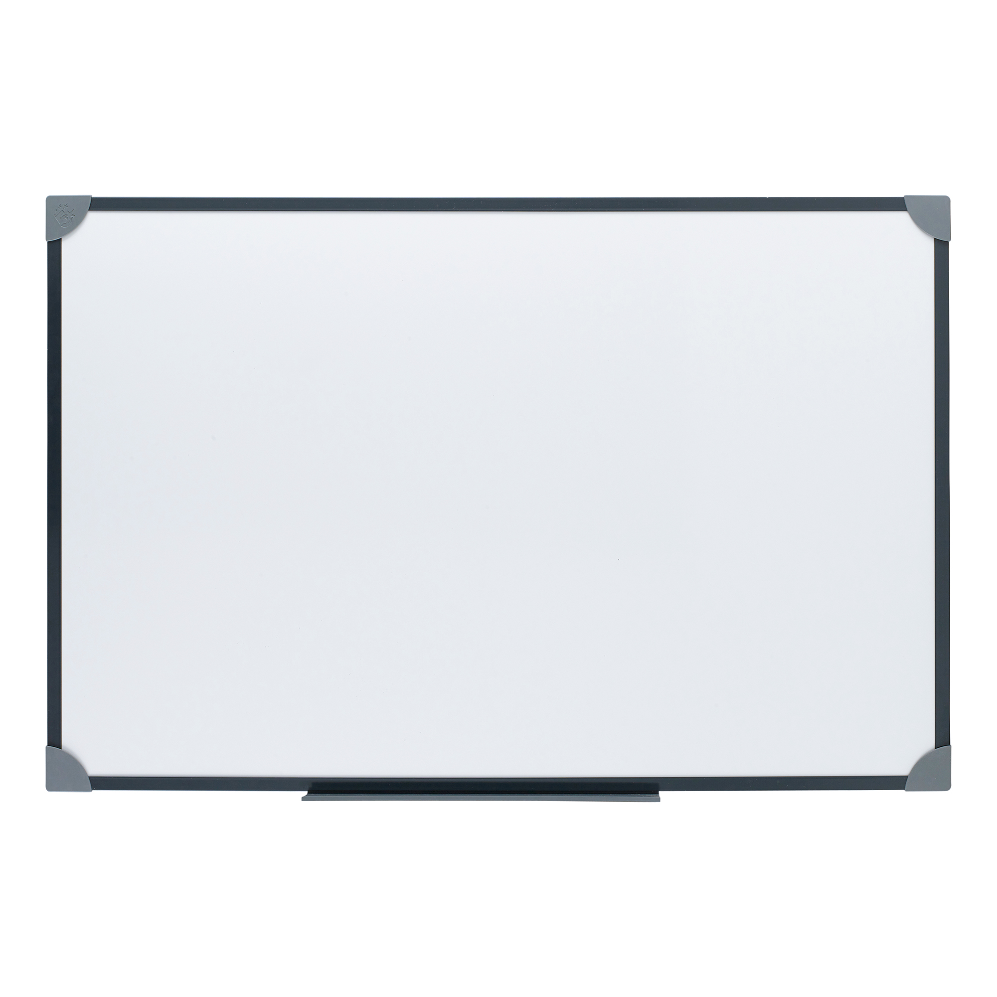 Magnetic 5 Star Office Magnetic Drywipe Board Steel Trim with Fixing Kit and Detachable Pen Tray W900xH600mm
