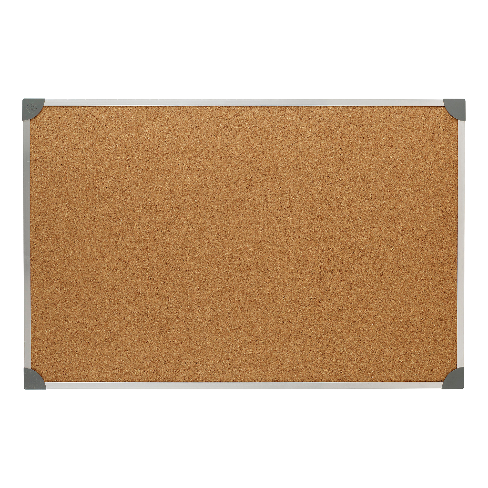 Cork 5 Star Office Cork Board with Wall Fixing Kit Aluminium Frame W900xH600mm