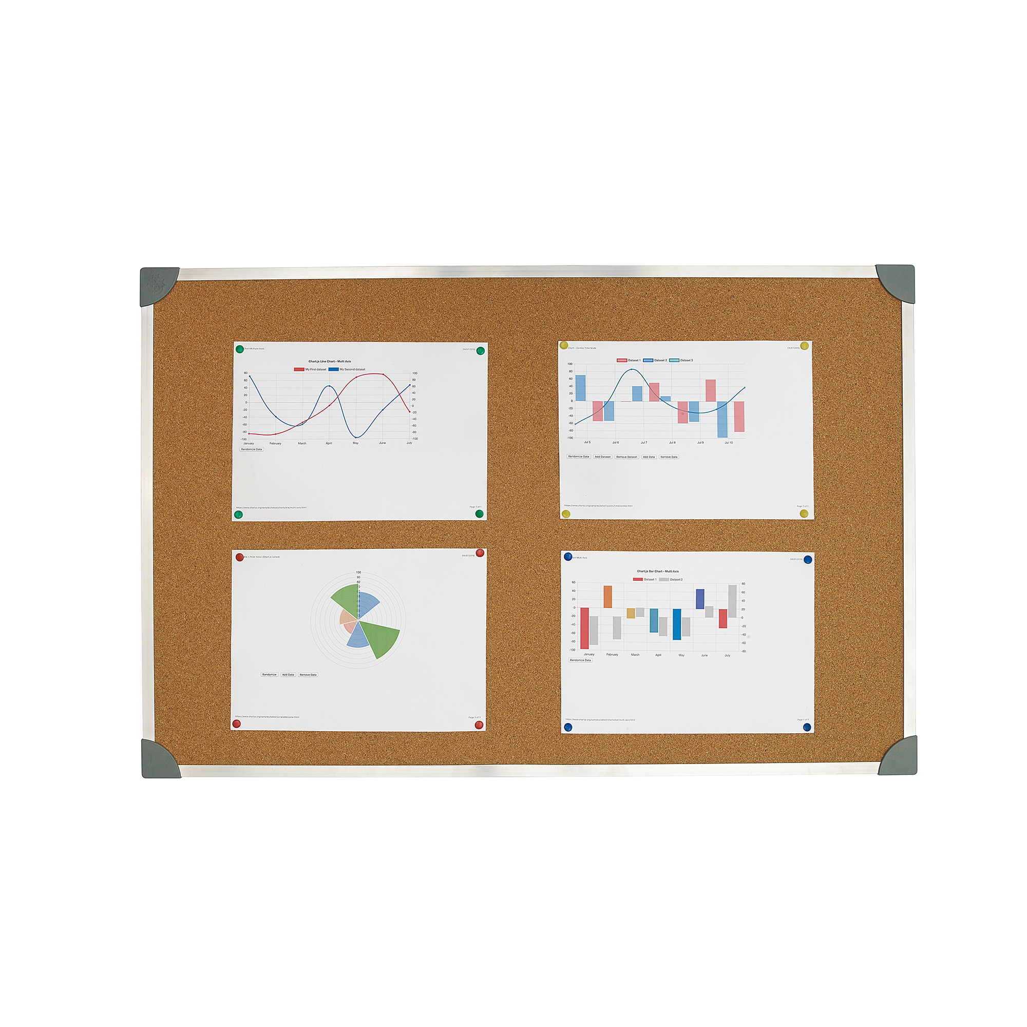 Image for 5 Star Office Cork Board with Wall Fixing Kit Aluminium Frame W900xH600mm