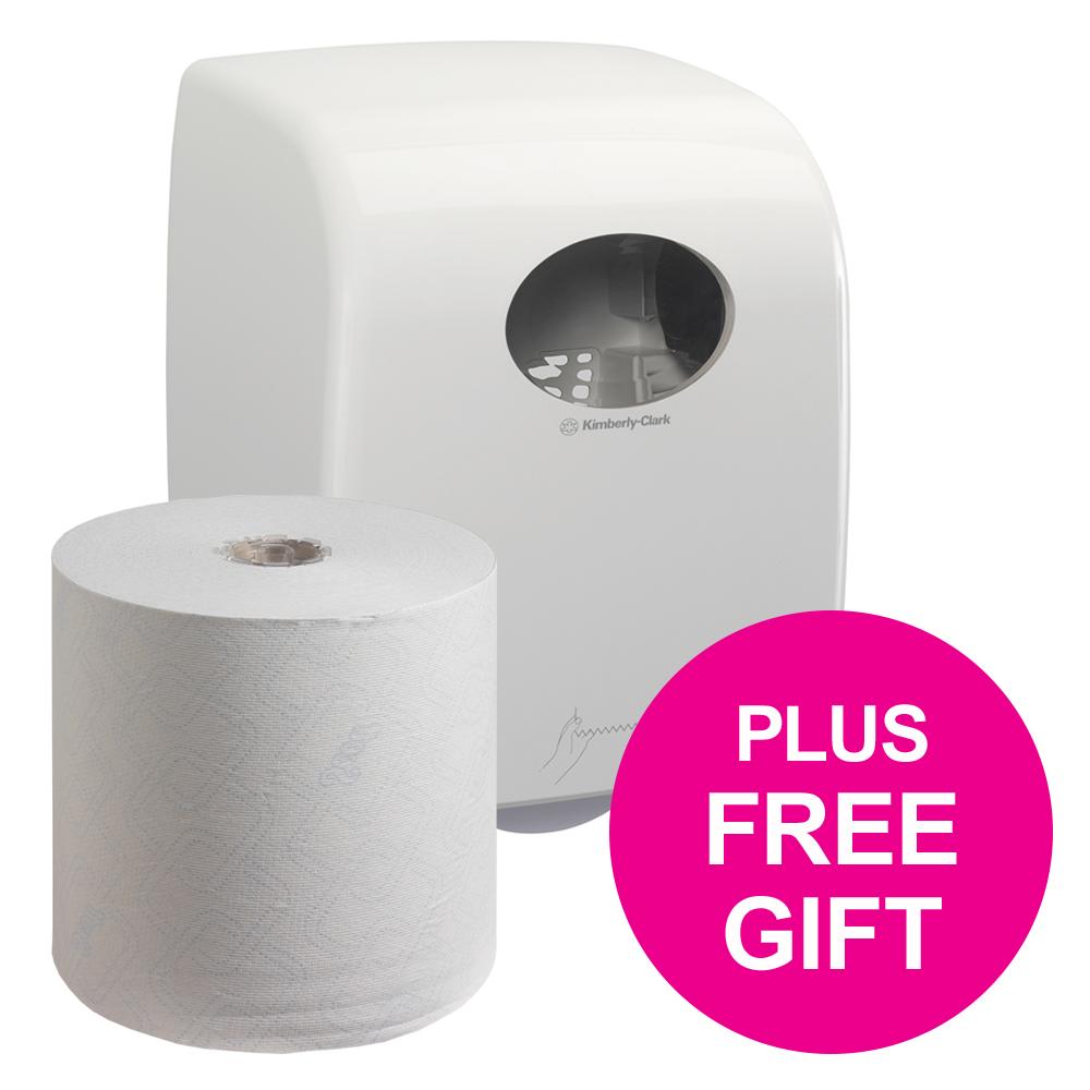 SCOTT 6620 Control Hand Towel Roll 250m 1-Ply White Ref 6620 [Pack 6] [FREE Dispenser] Jul-Dec 2018