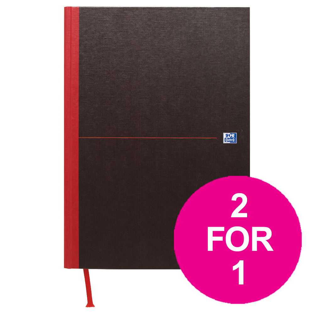 Black n Red Book Casebound 90gsm Ruled 192pp A5 Ref 100080459 Pack 5 2 For 1 Jul-Sep 2018