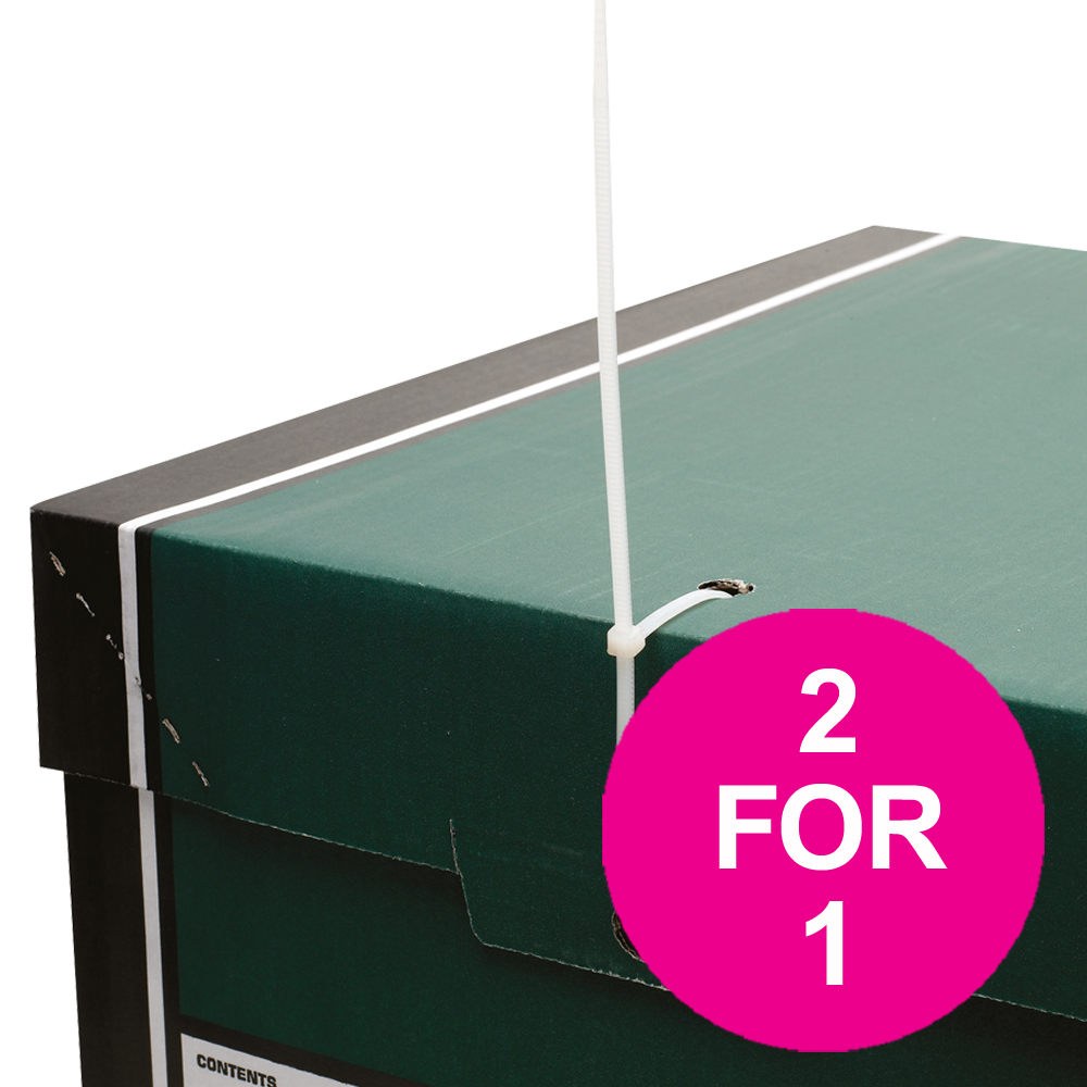 Bankers Box Premium Storage Box Tall FSC Green and White Ref 7260803 Pack 12 2 For 1 Jul 2018