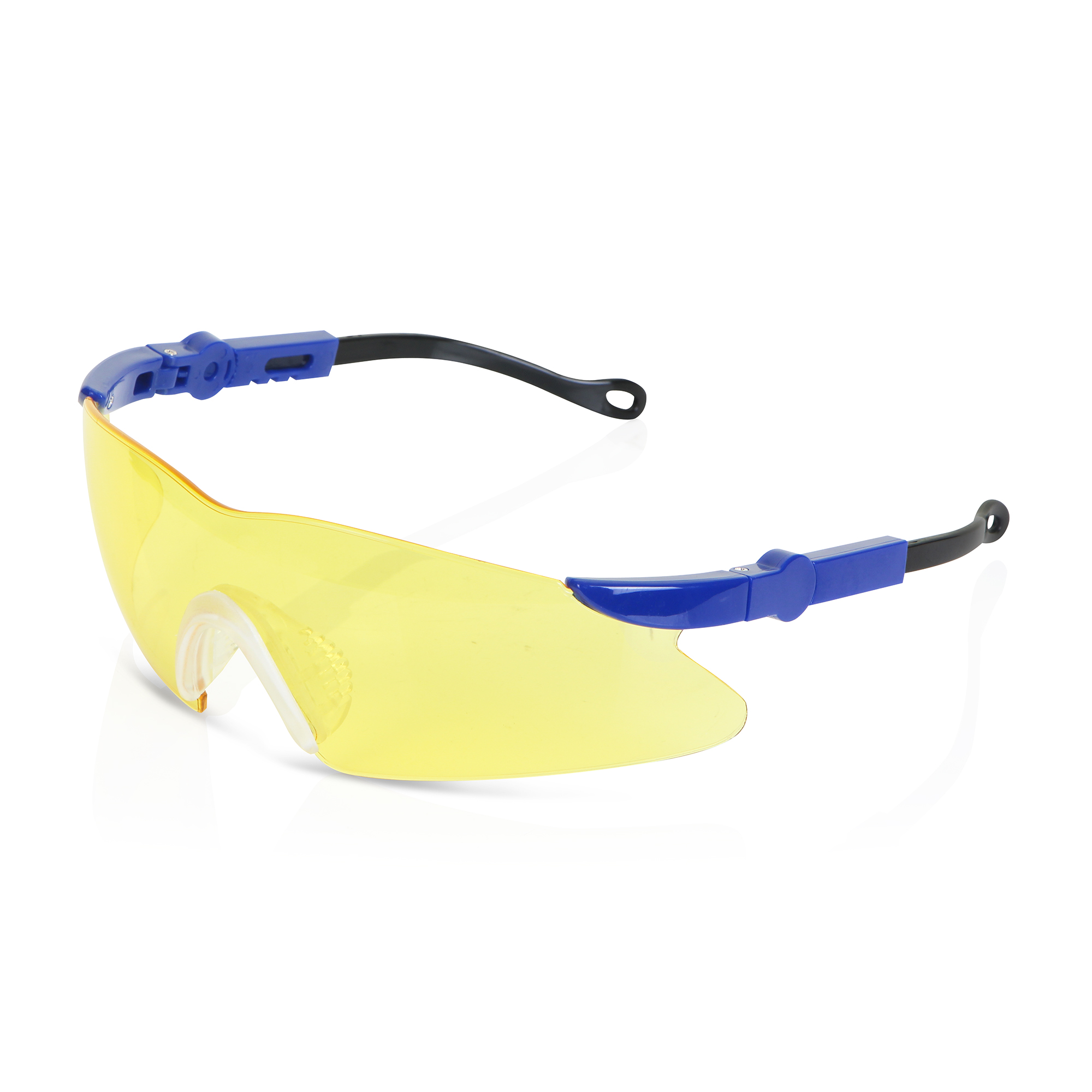 B-Brand Texas Safety Spectacles with Adjustable Side Arms Yellow Ref BBTXS2Y  Up to 3 Day Leadtime